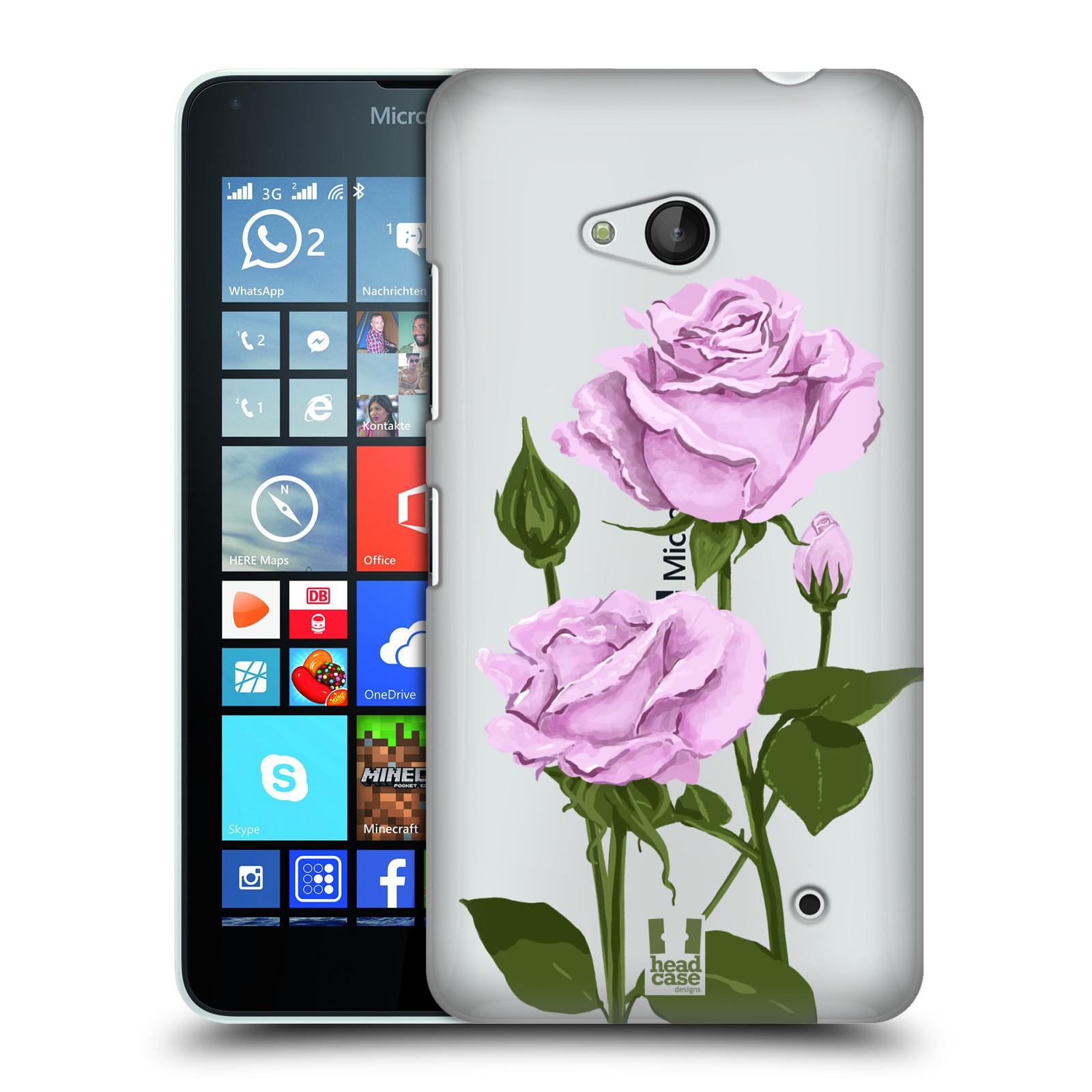 Pouzdro na mobil Microsoft Lumia 640 / 640 DUAL SIM - HEAD CASE - květina růže růžová