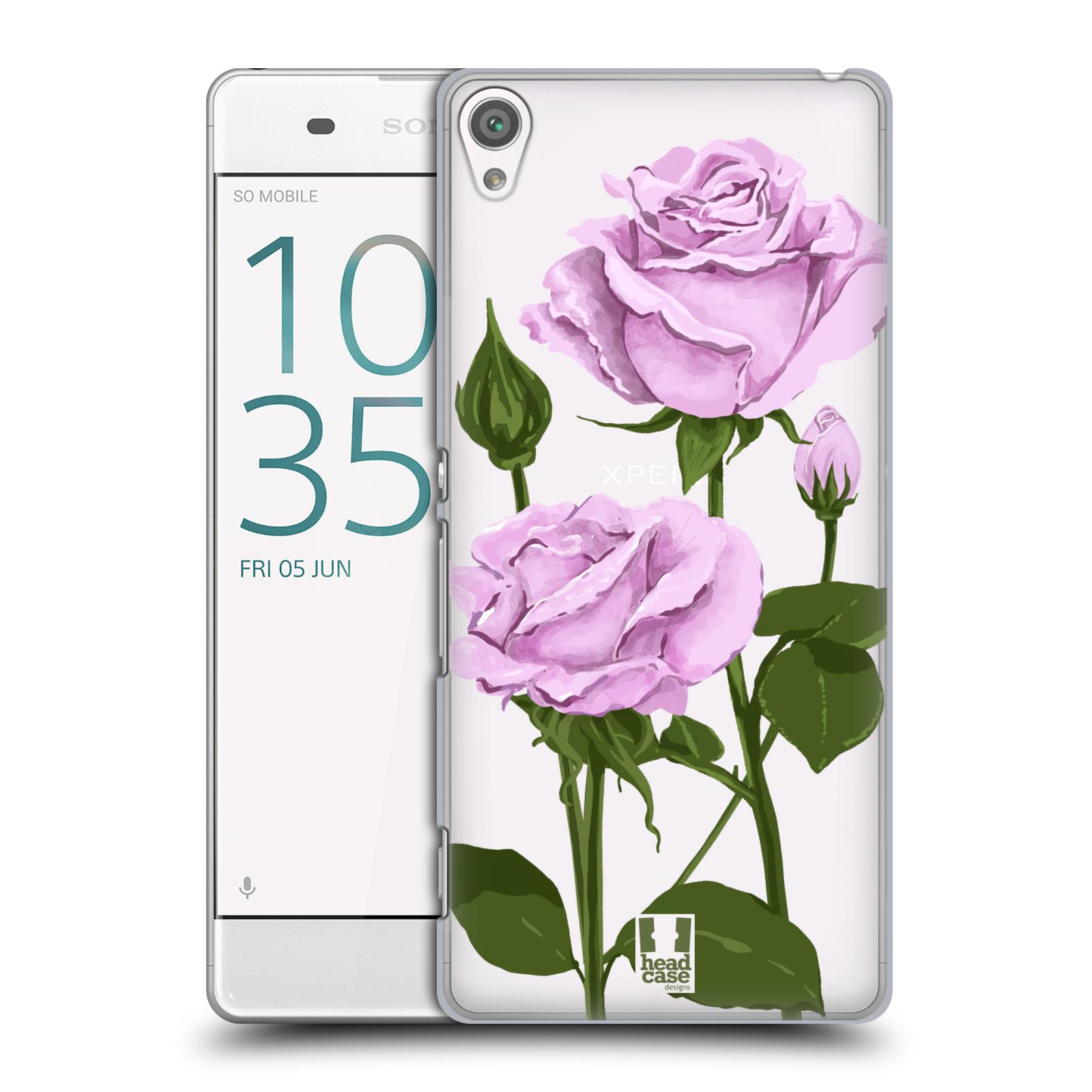 Pouzdro na mobil Sony Xperia XA - HEAD CASE - květina růže růžová