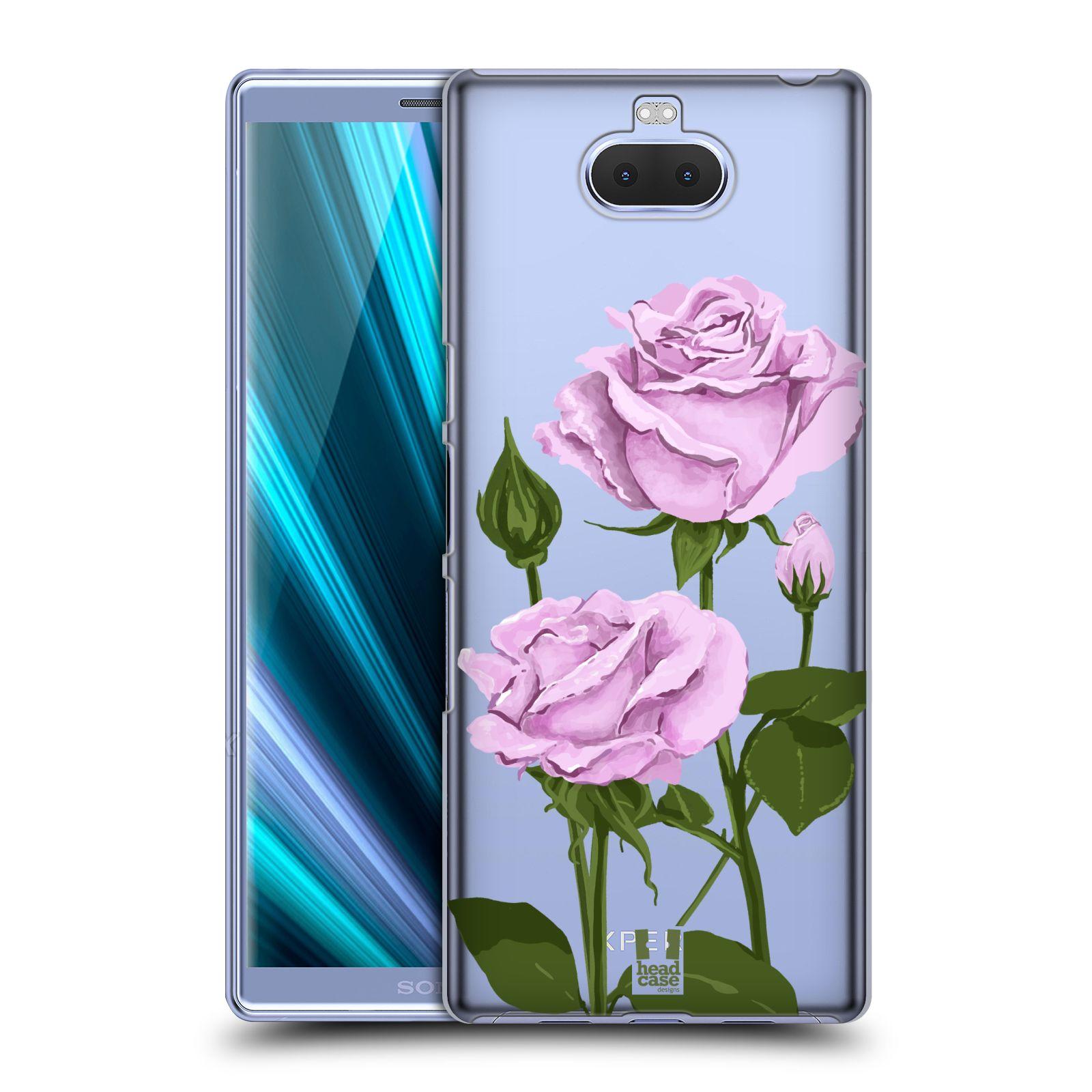 Pouzdro na mobil Sony Xperia 10 Plus - HEAD CASE - květina růže růžová