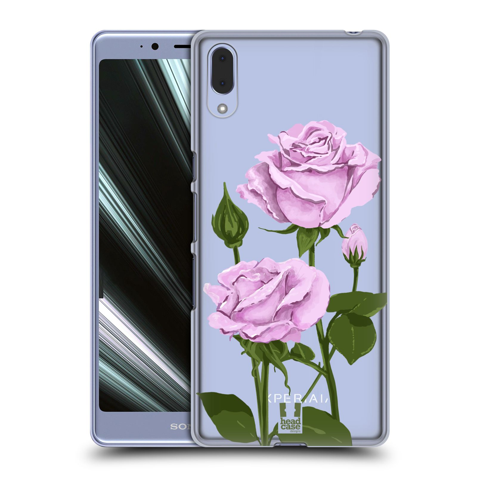 Pouzdro na mobil Sony Xperia L3 - HEAD CASE - květina růže růžová
