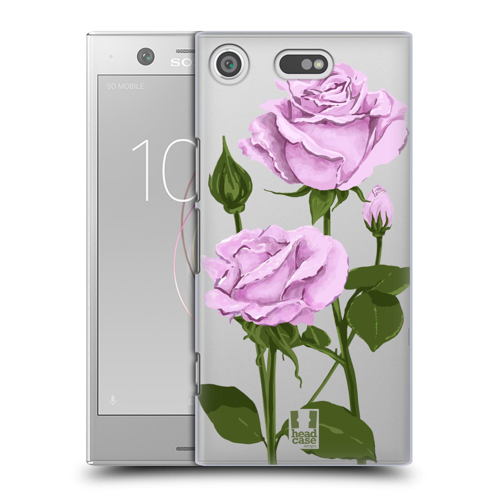 Pouzdro na mobil Sony Xperia XZ1 COMPACT - HEAD CASE - květina růže růžová