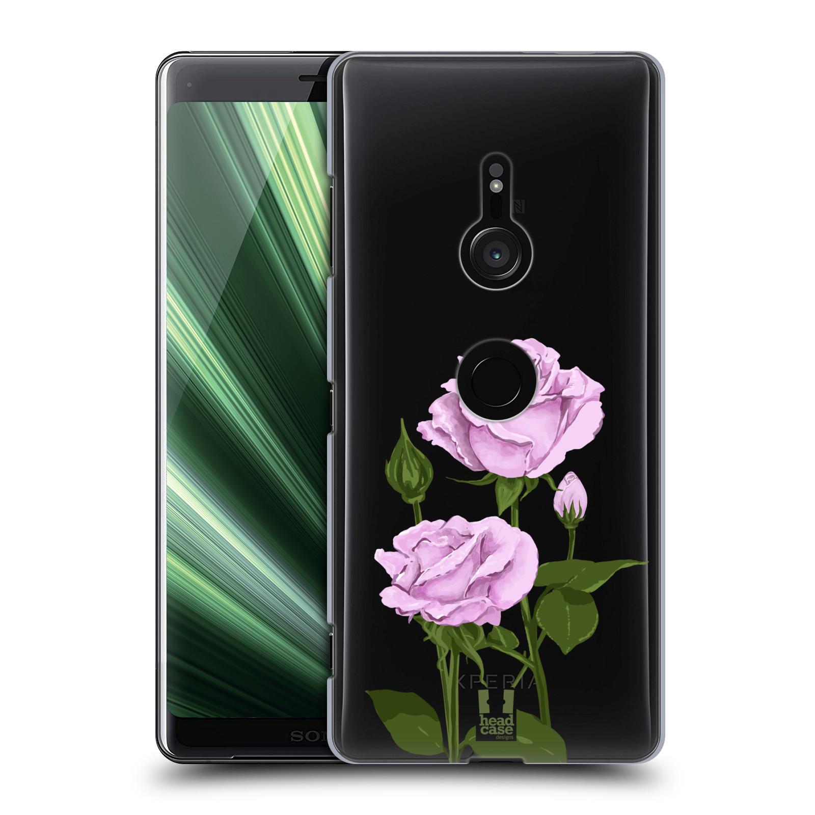 Pouzdro na mobil Sony Xperia XZ3 - HEAD CASE - květina růže růžová