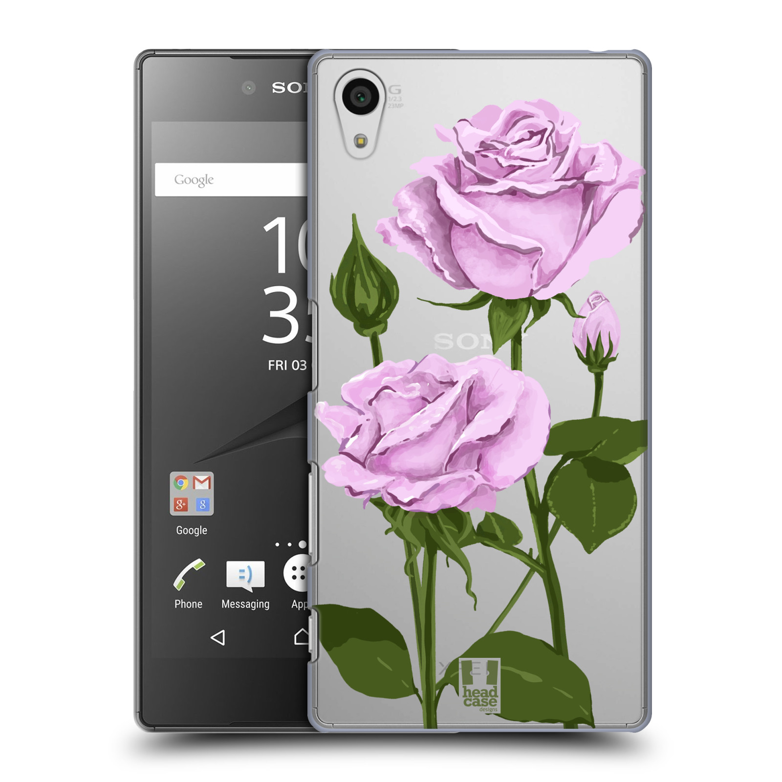 Pouzdro na mobil Sony Xperia Z5 - HEAD CASE - květina růže růžová