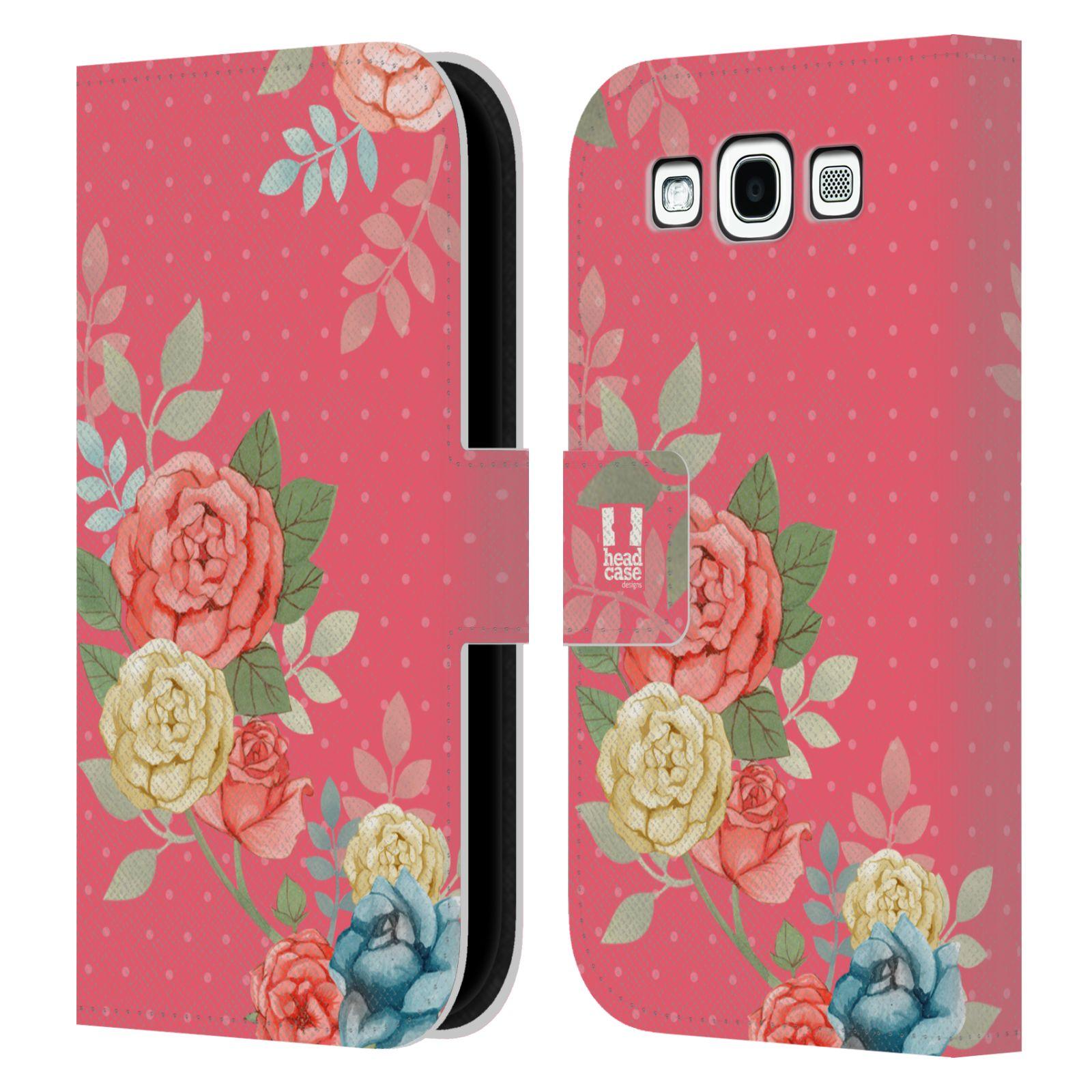 HEAD CASE Flipové pouzdro pro mobil Samsung Galaxy S3 romantické květy růžová