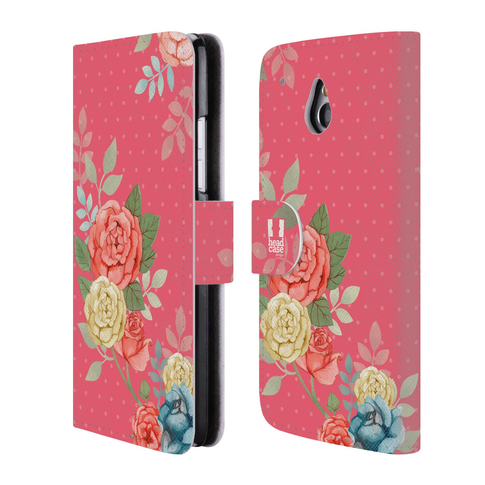 HEAD CASE Flipové pouzdro pro mobil HTC ONE MINI (M4) romantické květy růžová
