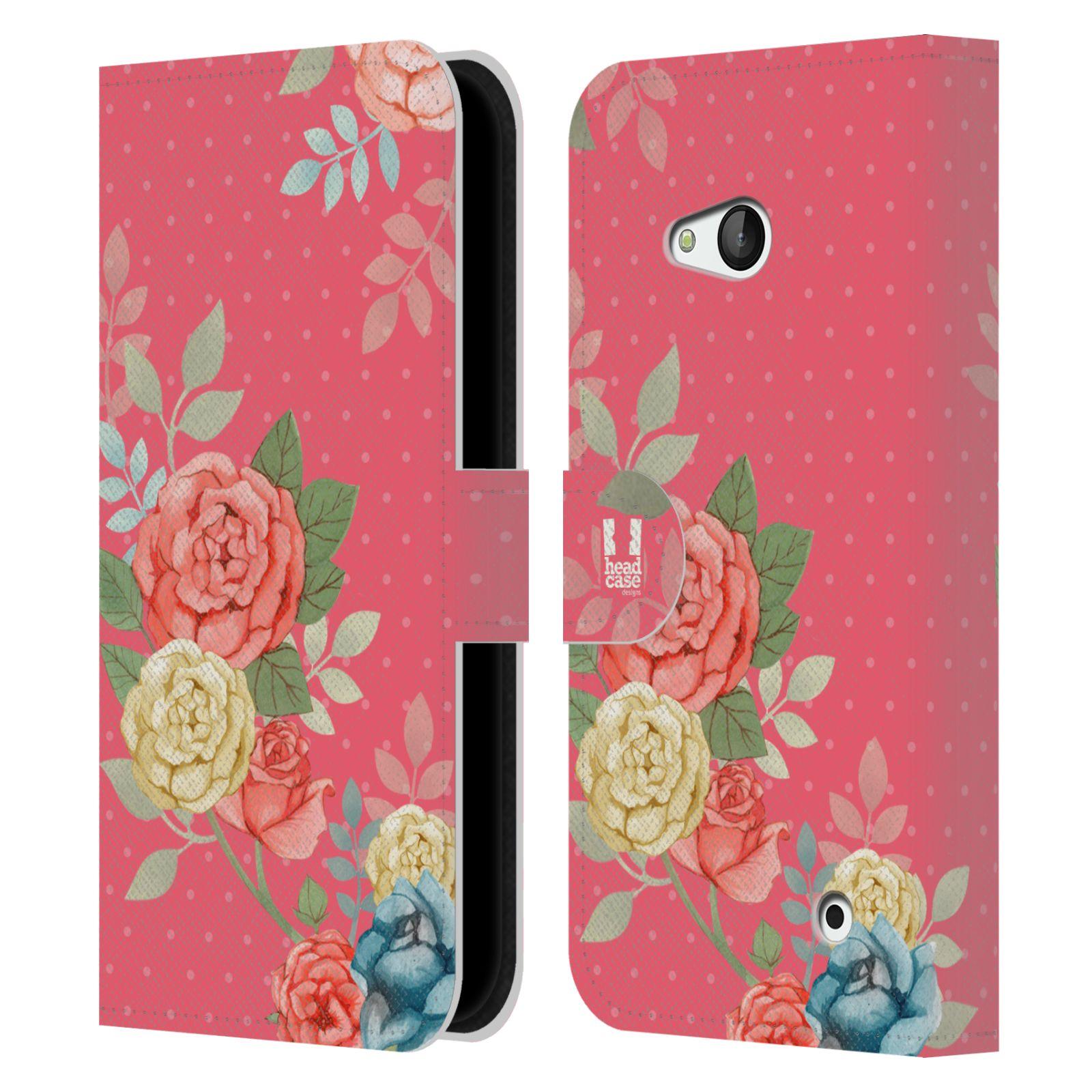 HEAD CASE Flipové pouzdro pro mobil NOKIA / MICROSOFT LUMIA 640 / LUMIA 640 DUAL romantické květy růžová