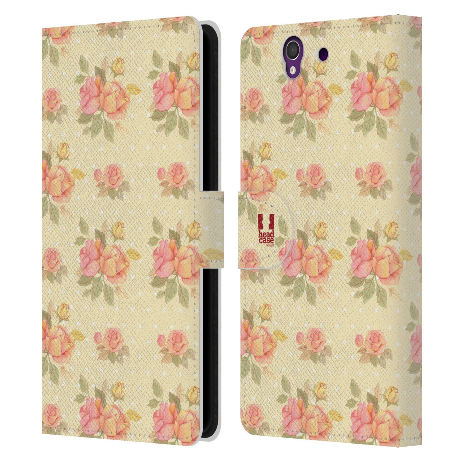 HEAD CASE Flipové pouzdro pro mobil SONY XPERIA Z (C6603) romantické květy LÉTO