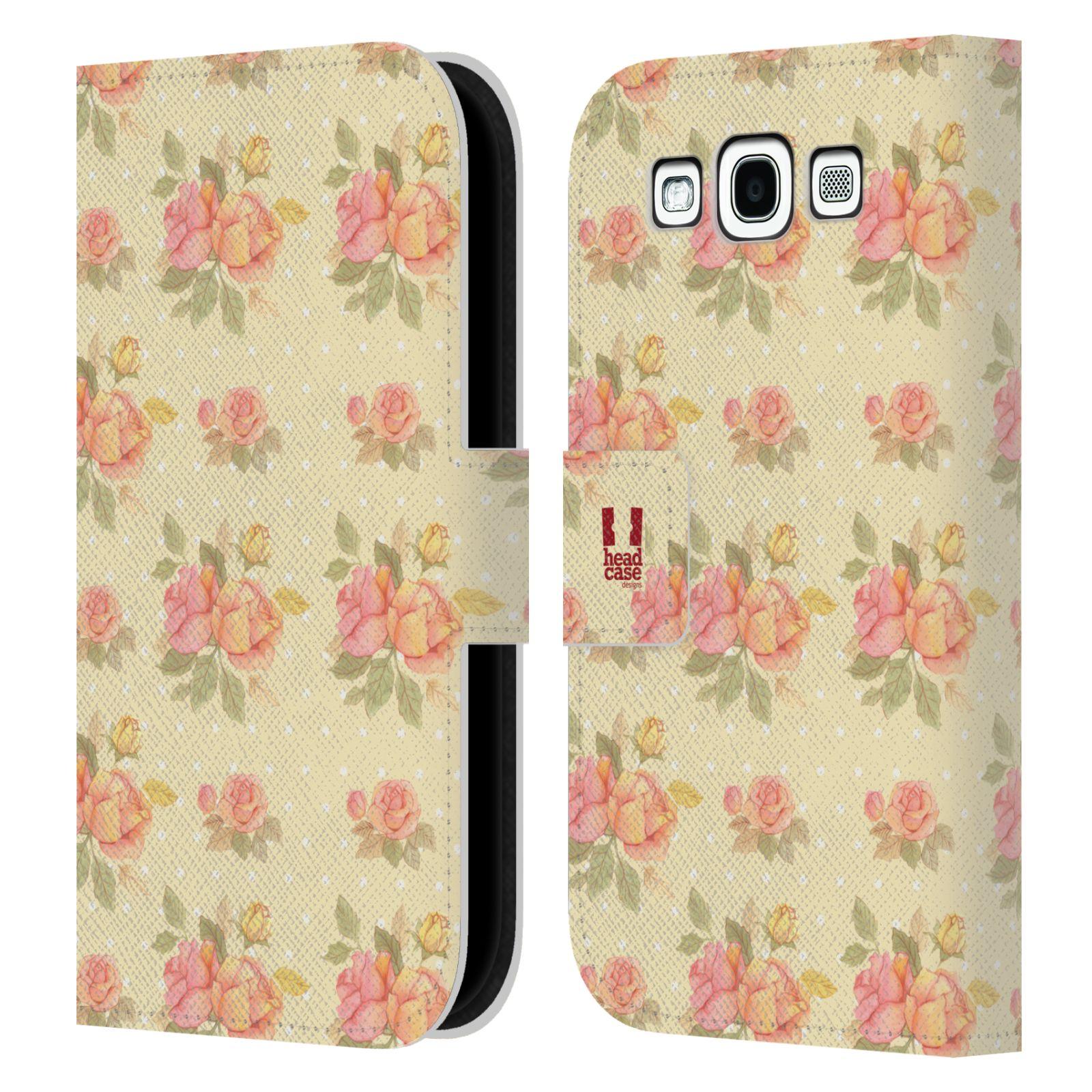 HEAD CASE Flipové pouzdro pro mobil Samsung Galaxy S3 romantické květy LÉTO