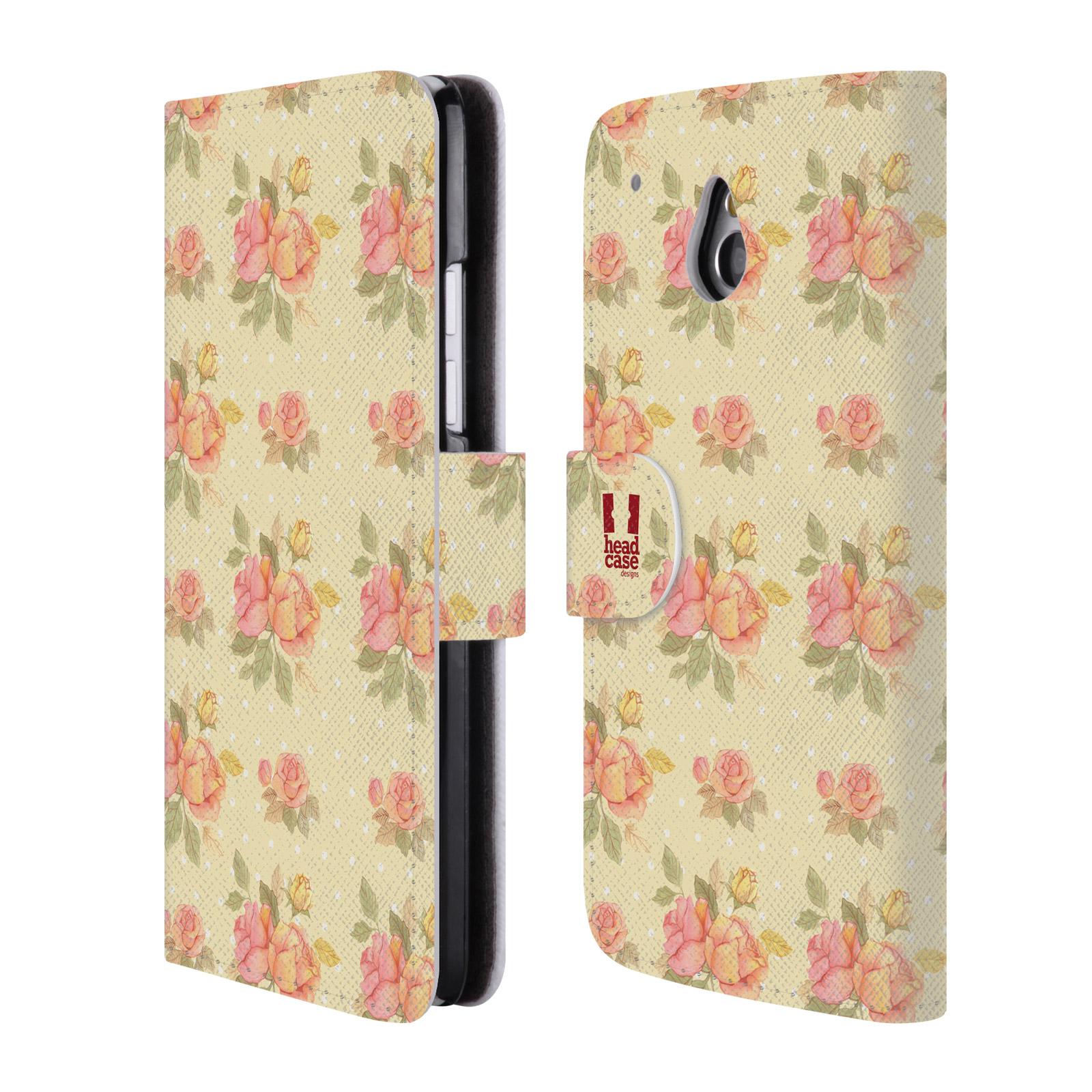 HEAD CASE Flipové pouzdro pro mobil HTC ONE MINI (M4) romantické květy LÉTO