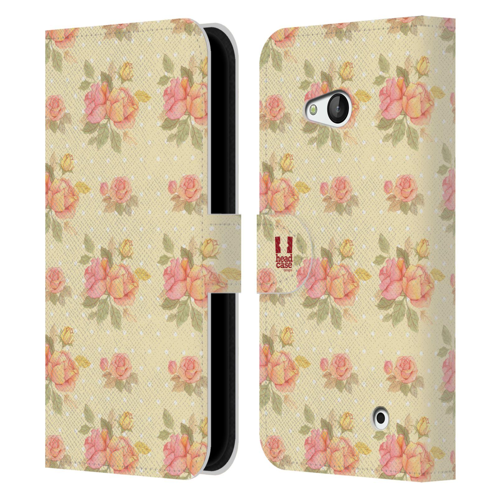 HEAD CASE Flipové pouzdro pro mobil NOKIA / MICROSOFT LUMIA 640 / LUMIA 640 DUAL romantické květy LÉTO