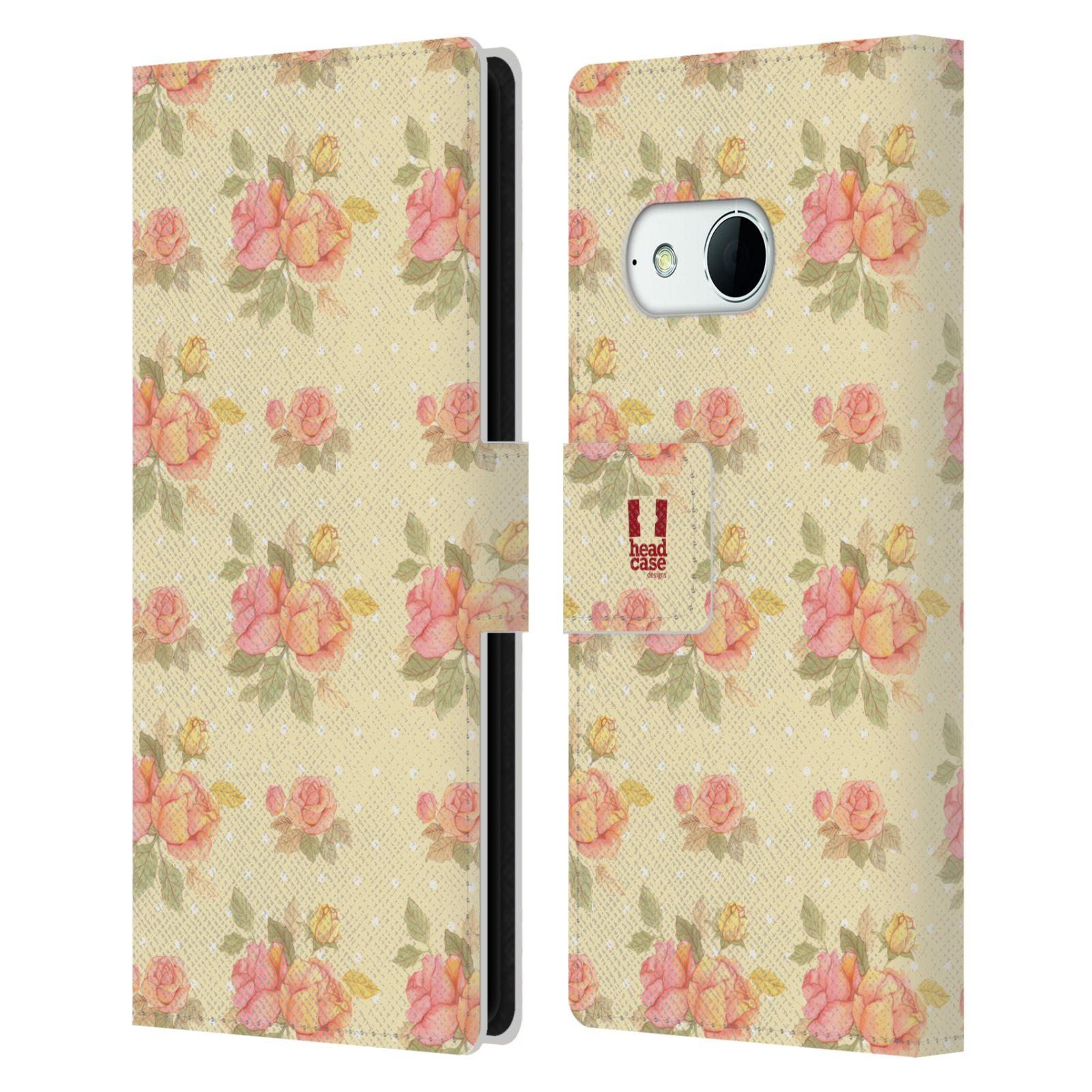 HEAD CASE Flipové pouzdro pro mobil HTC ONE MINI 2 (M8) romantické květy LÉTO