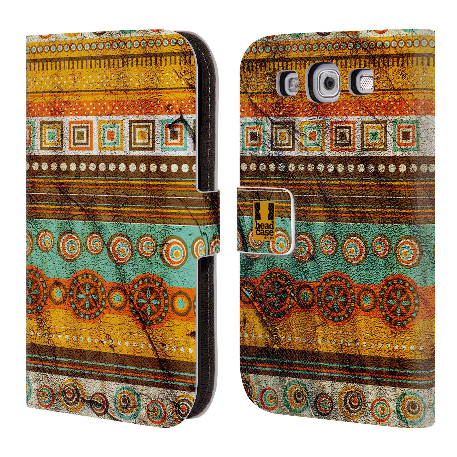 HEAD CASE Flipové pouzdro pro mobil Samsung Galaxy S3 retro textura indie zub času
