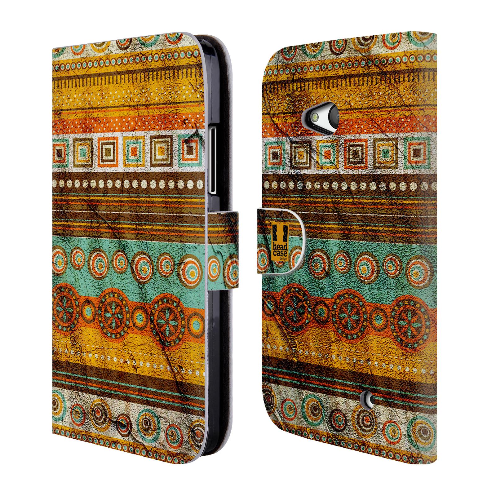 HEAD CASE Flipové pouzdro pro mobil NOKIA / MICROSOFT LUMIA 640 / LUMIA 640 DUAL retro textura indie zub času