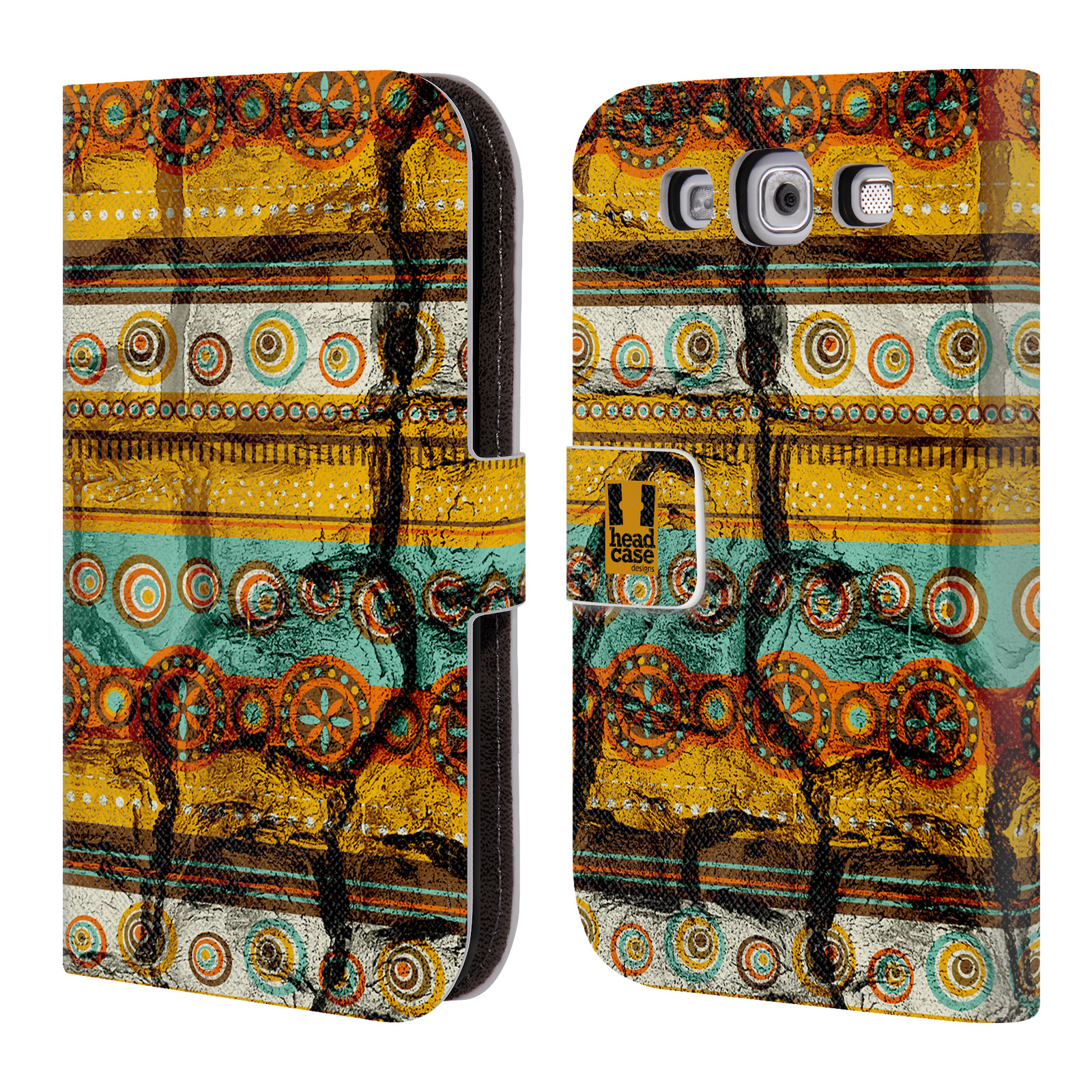 HEAD CASE Flipové pouzdro pro mobil Samsung Galaxy S3 retro textura indie rozbitý