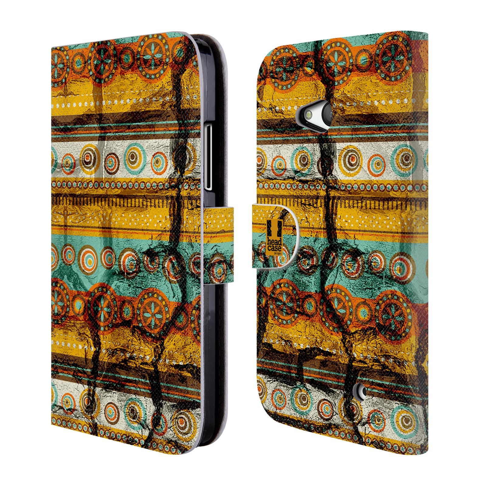 HEAD CASE Flipové pouzdro pro mobil NOKIA / MICROSOFT LUMIA 640 / LUMIA 640 DUAL retro textura indie rozbitý