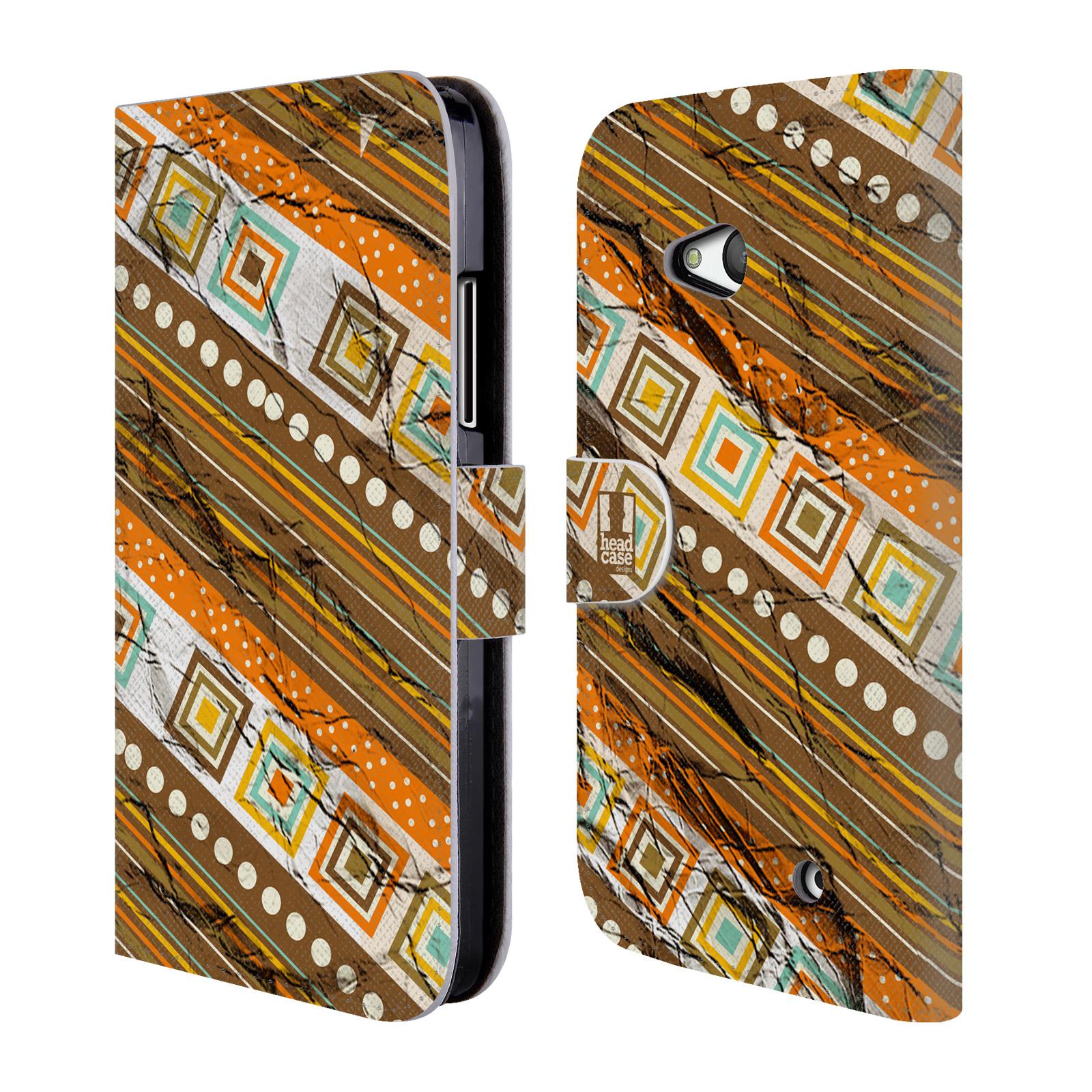 HEAD CASE Flipové pouzdro pro mobil NOKIA / MICROSOFT LUMIA 640 / LUMIA 640 DUAL retro textura indie pokrčený