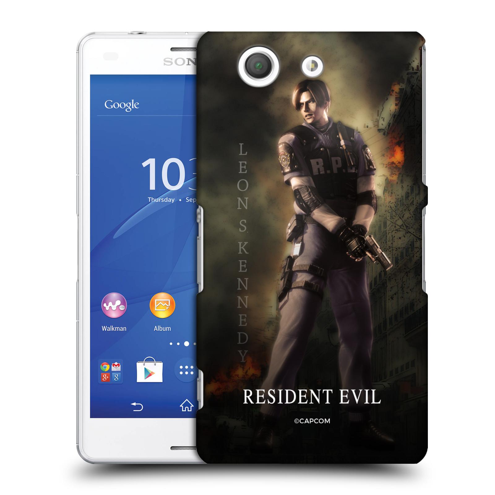 Pouzdro na mobil Sony Xperia Z3 COMPACT Resident Evil Leon S. Kennedy