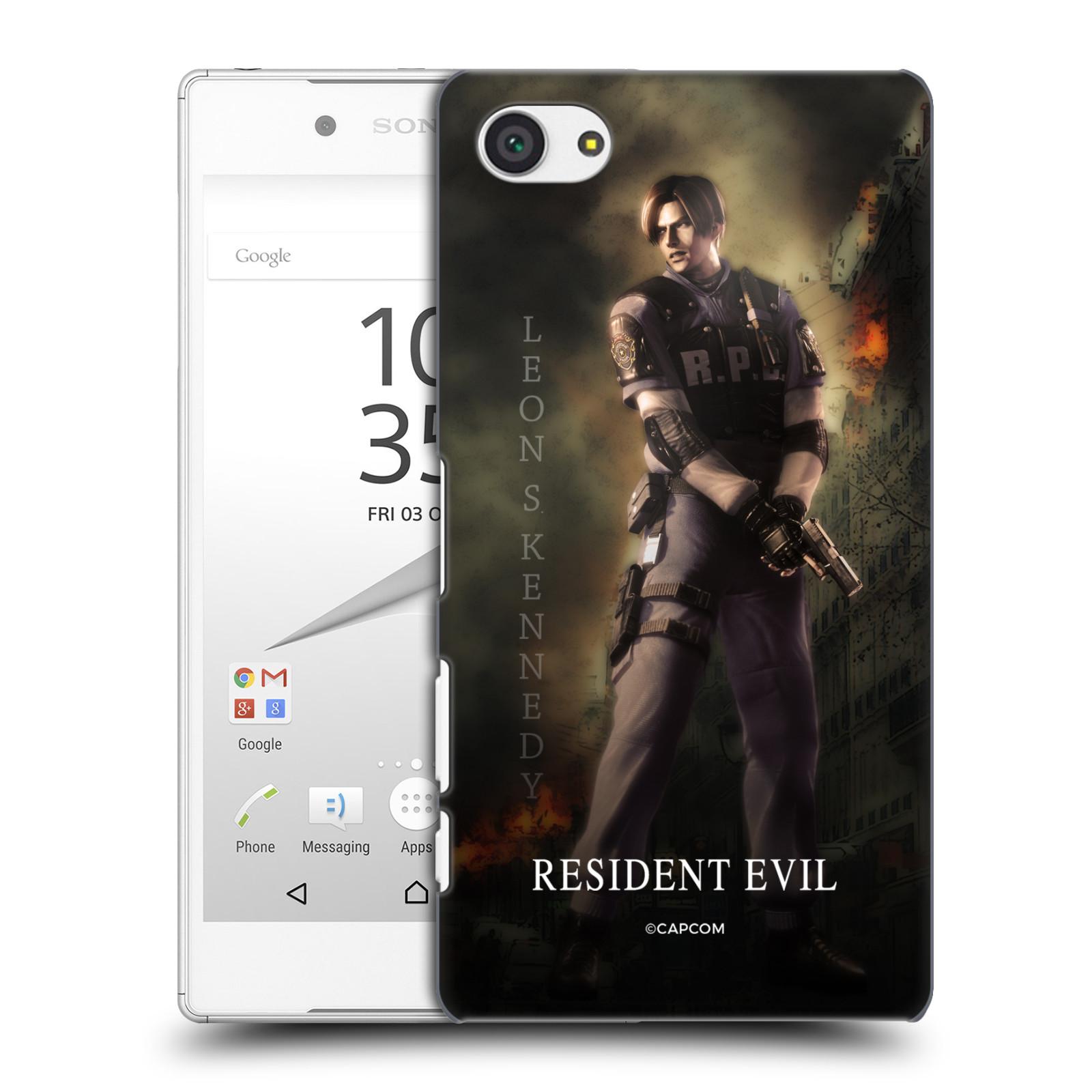 Pouzdro na mobil Sony Xperia Z5 COMPACT Resident Evil Leon S. Kennedy