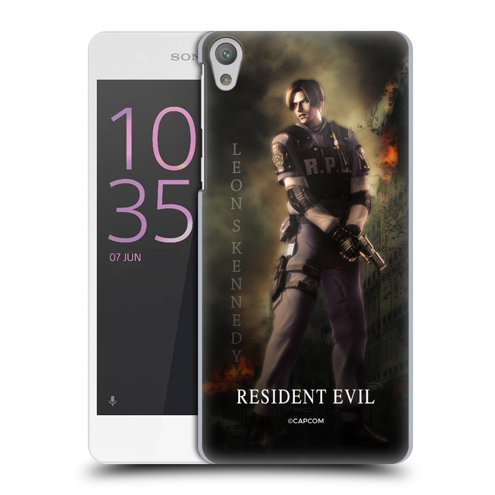 Pouzdro na mobil Sony Xperia E5 Resident Evil Leon S. Kennedy