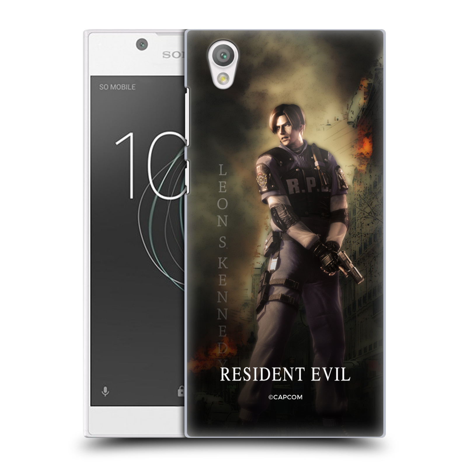 Pouzdro na mobil Sony Xperia L1 Resident Evil Leon S. Kennedy