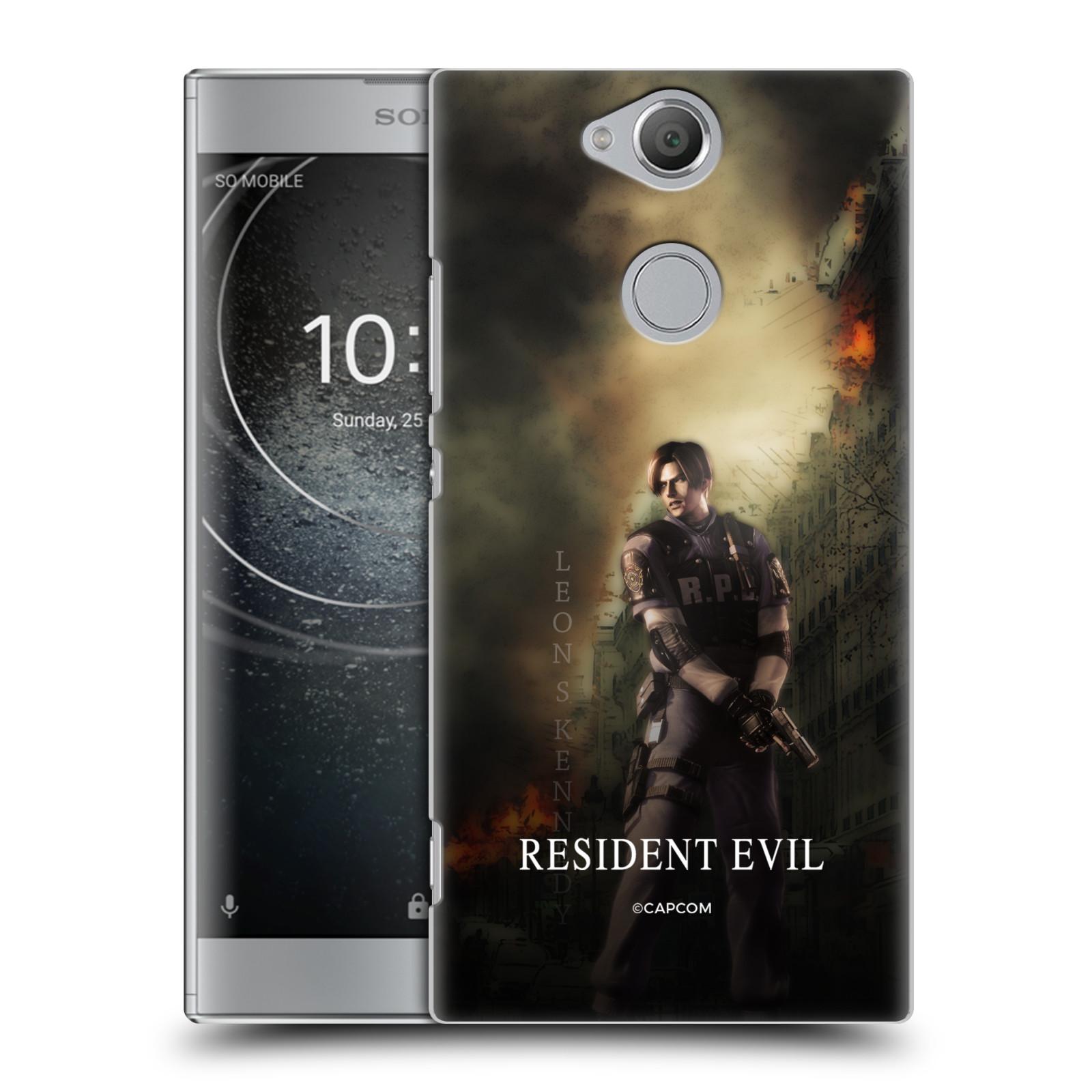 Pouzdro na mobil Sony Xperia XA2 Resident Evil Leon S. Kennedy