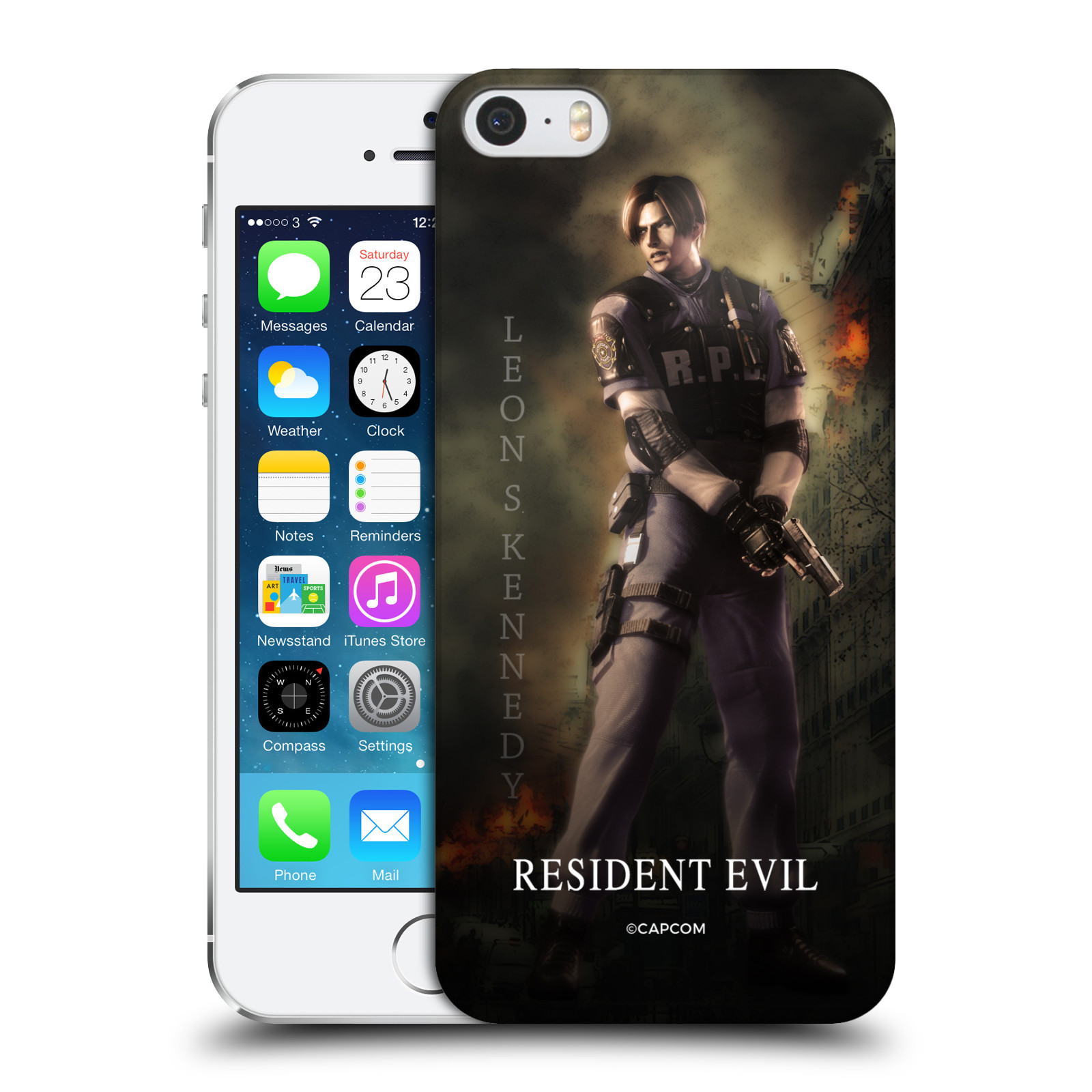 Pouzdro na mobil Apple Iphone 5/5S Resident Evil Leon S. Kennedy