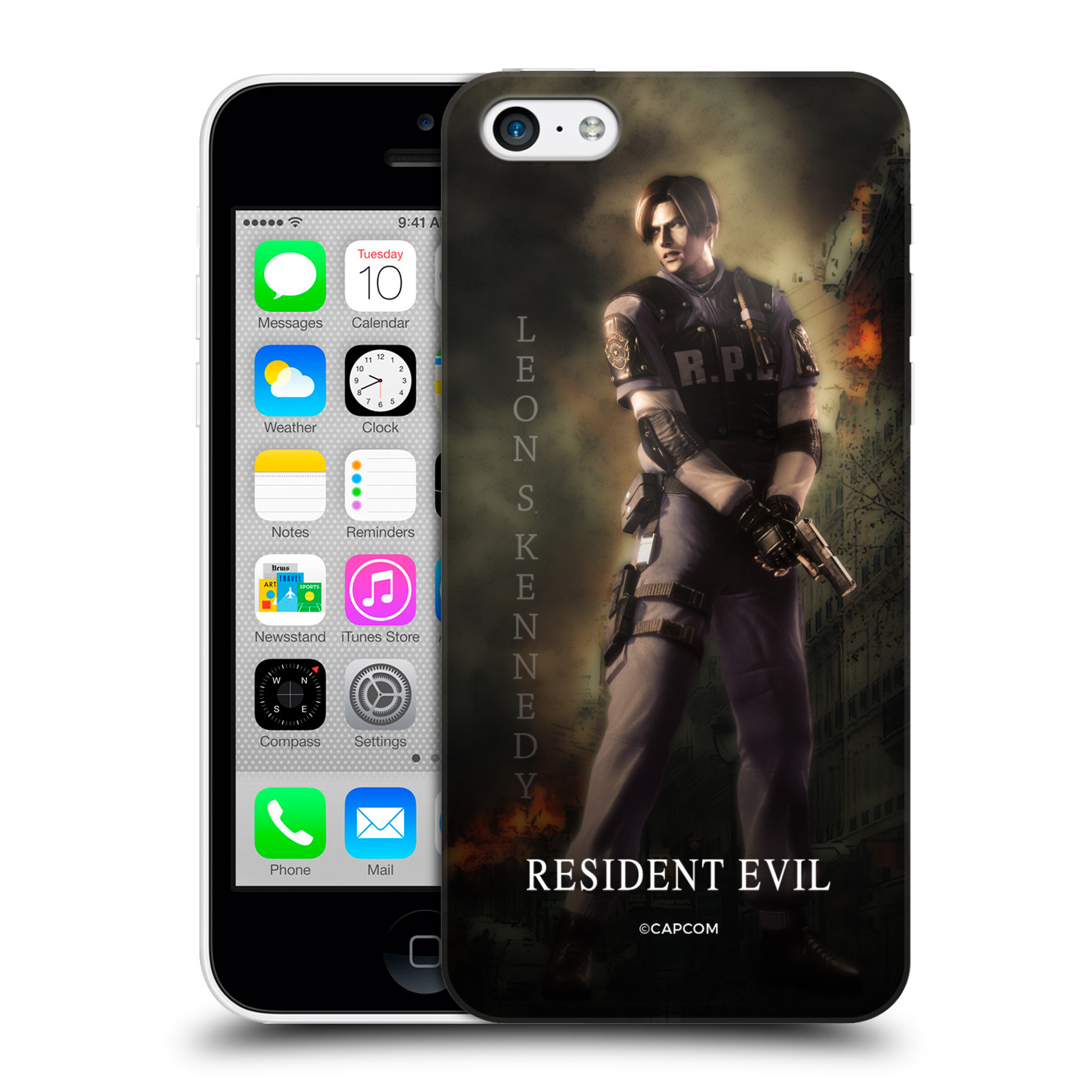 Pouzdro na mobil Apple Iphone 5C Resident Evil Leon S. Kennedy
