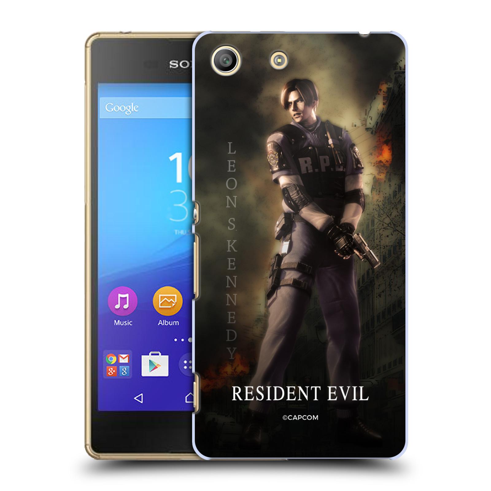 Pouzdro na mobil Sony Xperia M5 Resident Evil Leon S. Kennedy
