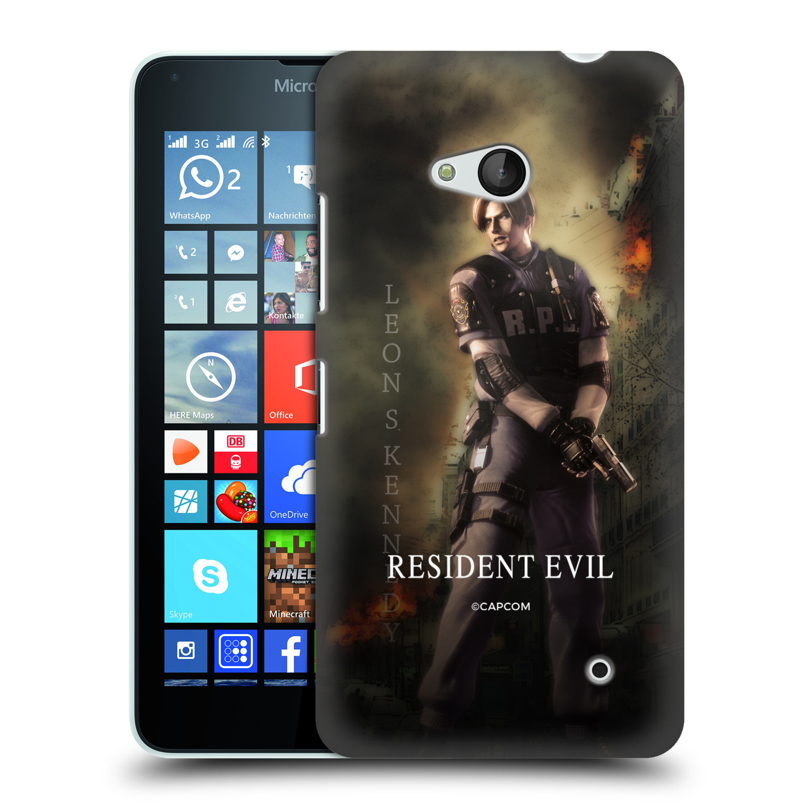 Pouzdro na mobil Microsoft Lumia 640 / 640 DUAL SIM Resident Evil Leon S. Kennedy