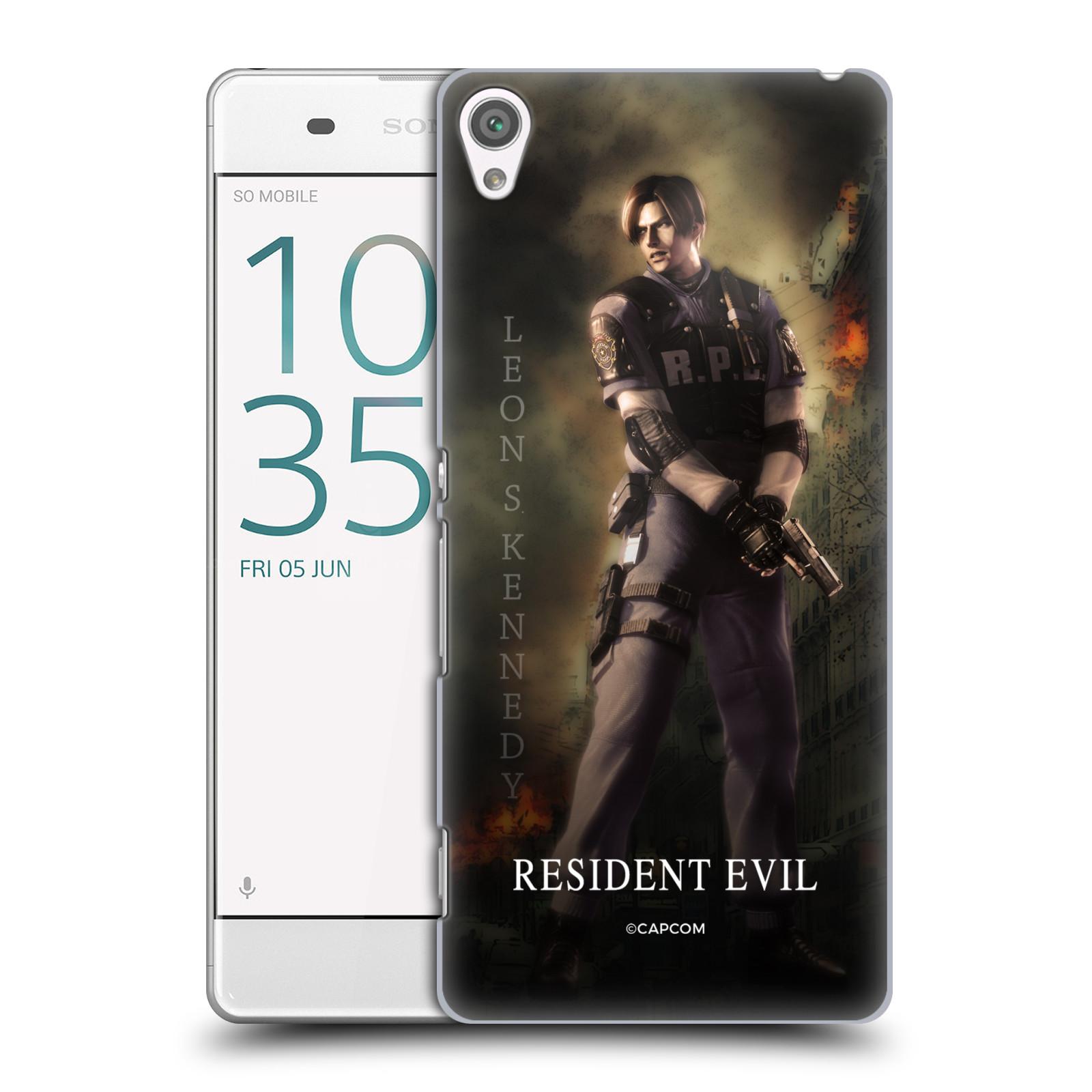 Pouzdro na mobil Sony Xperia XA Resident Evil Leon S. Kennedy