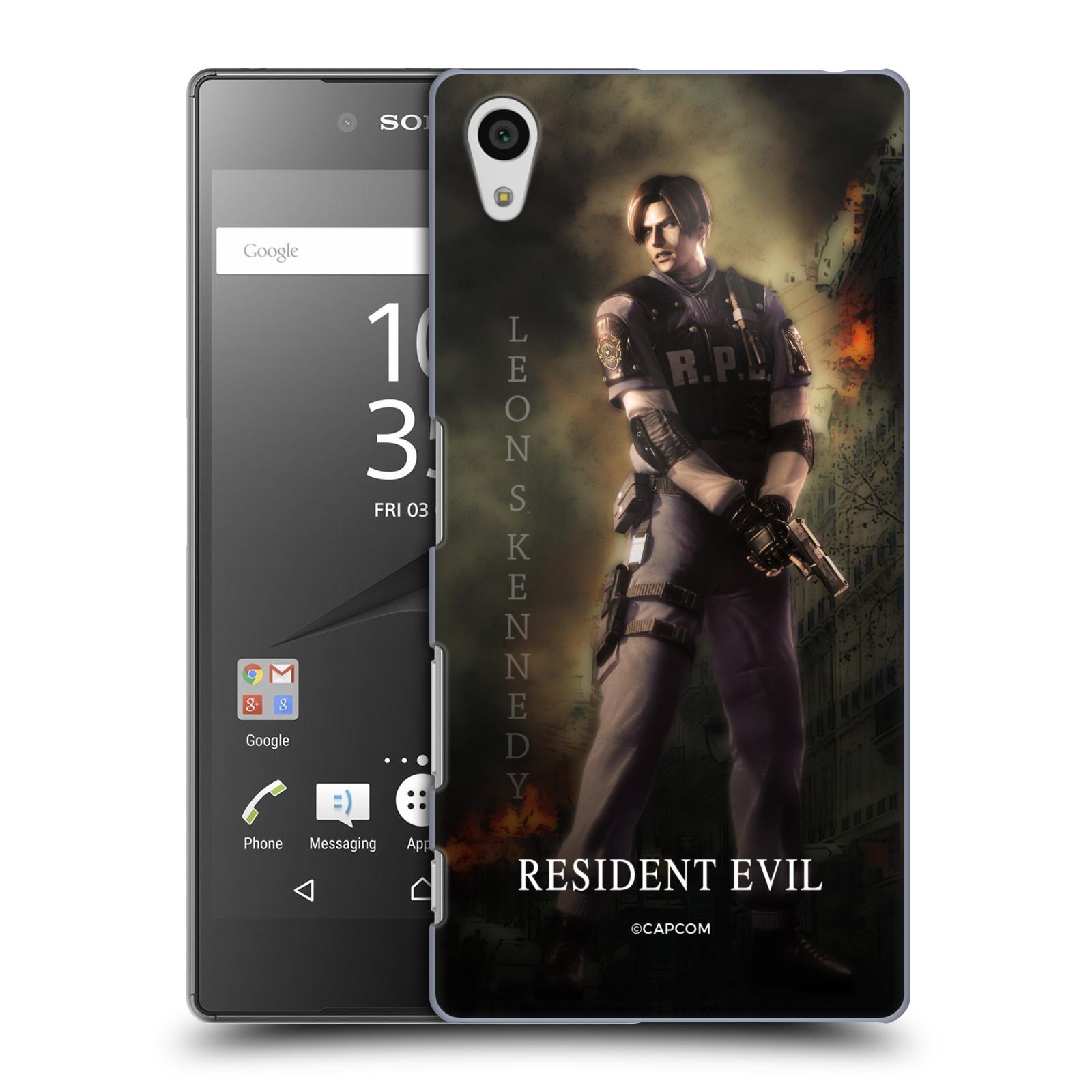 Pouzdro na mobil Sony Xperia Z5 Resident Evil Leon S. Kennedy