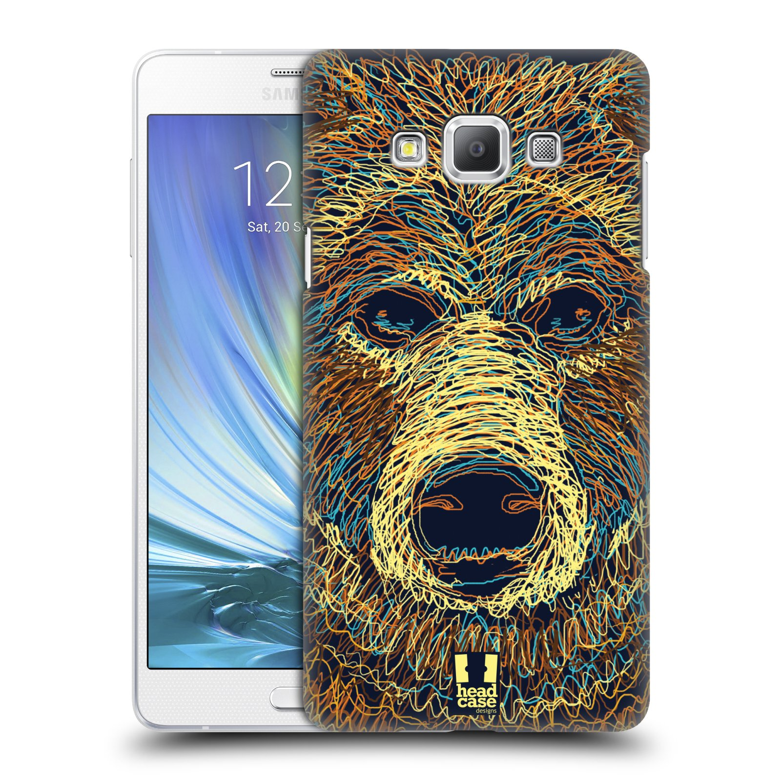 HEAD CASE plastový obal na mobil SAMSUNG GALAXY A7 vzor zvíře čmáranice medvěd