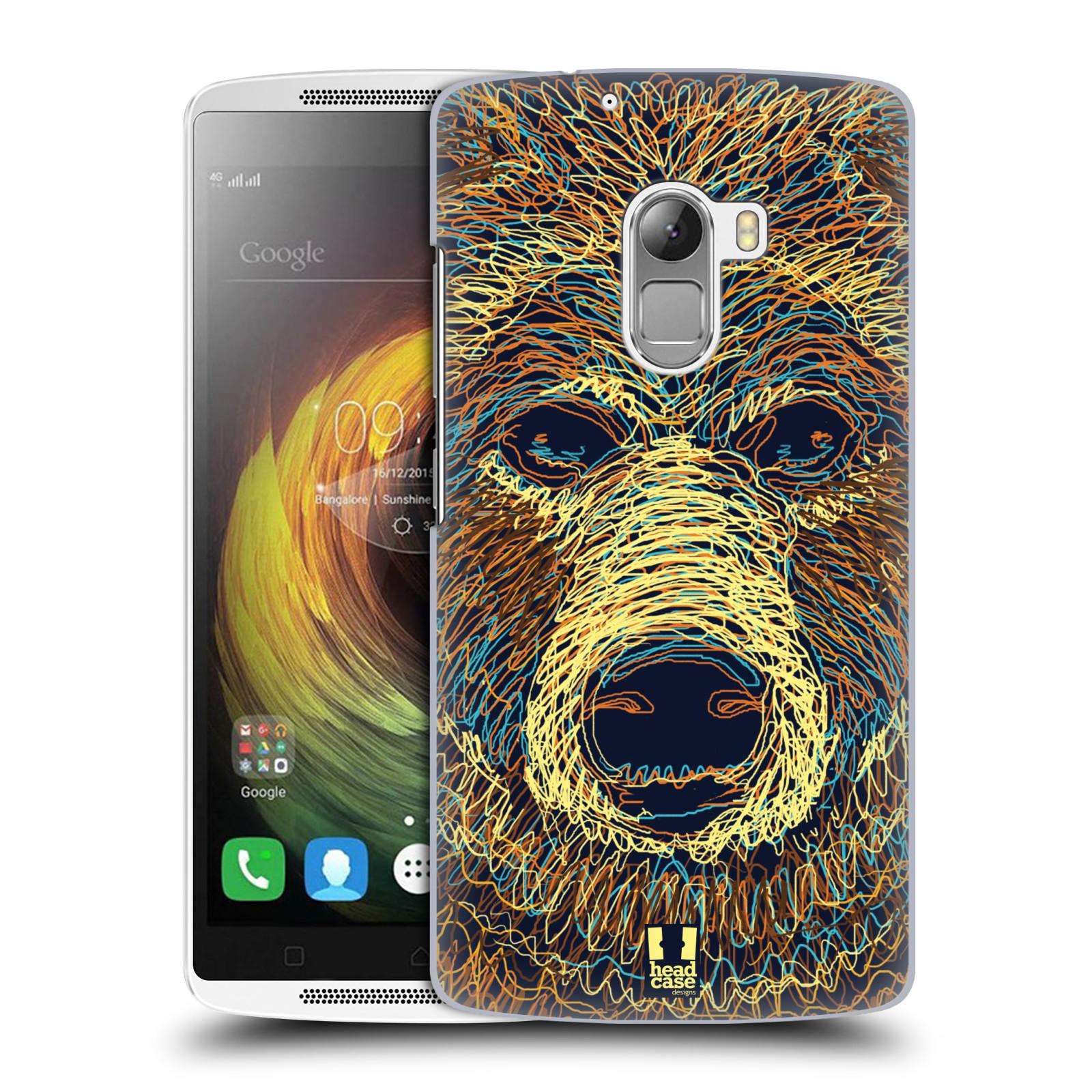 HEAD CASE pevný plastový obal na mobil LENOVO A7010 / A7010 DUAL / K4 Note / Vibe X3 lite vzor zvíře čmáranice medvěd