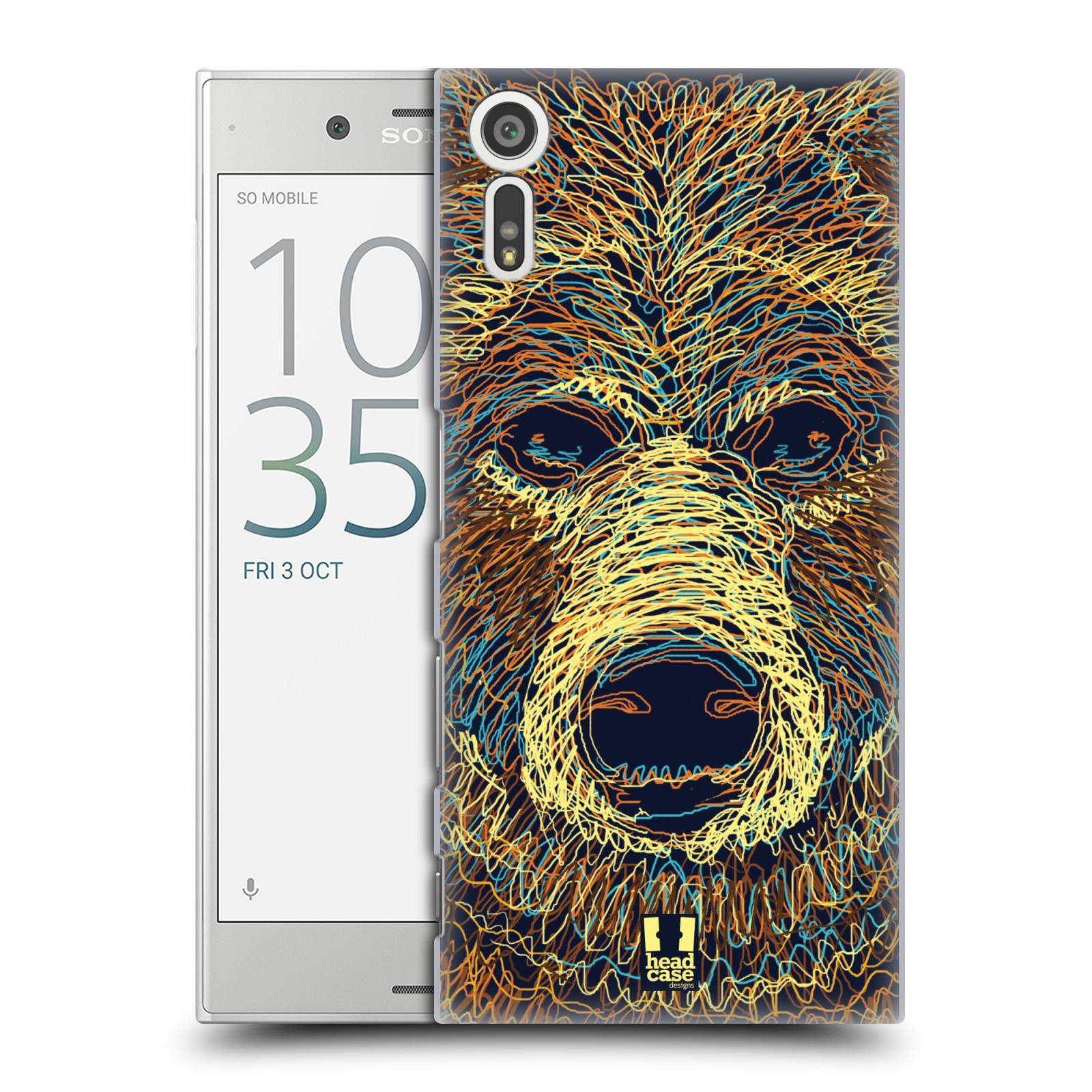 HEAD CASE plastový obal na mobil Sony Xperia XZ vzor zvíře čmáranice medvěd