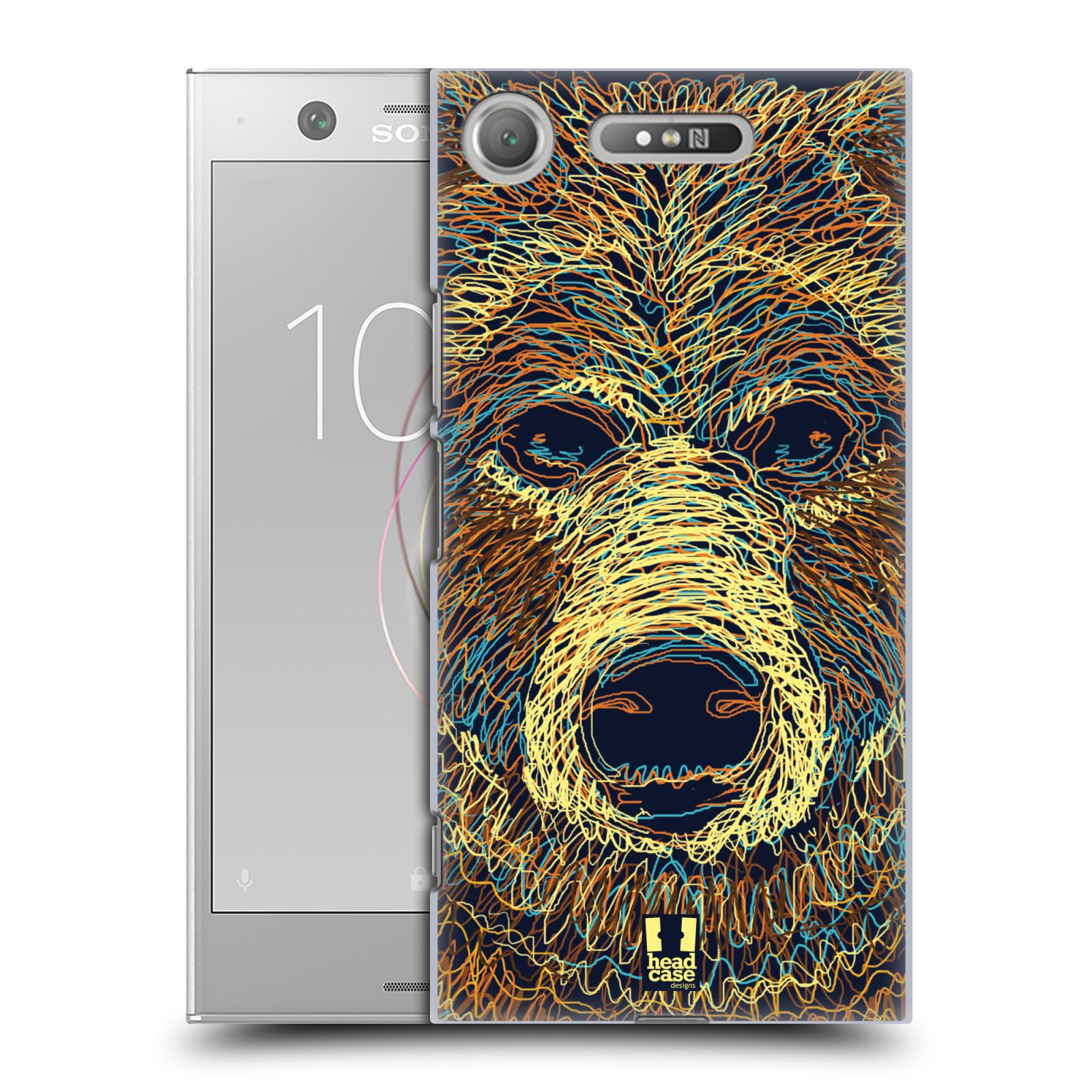 HEAD CASE plastový obal na mobil Sony Xperia XZ1 vzor zvíře čmáranice medvěd