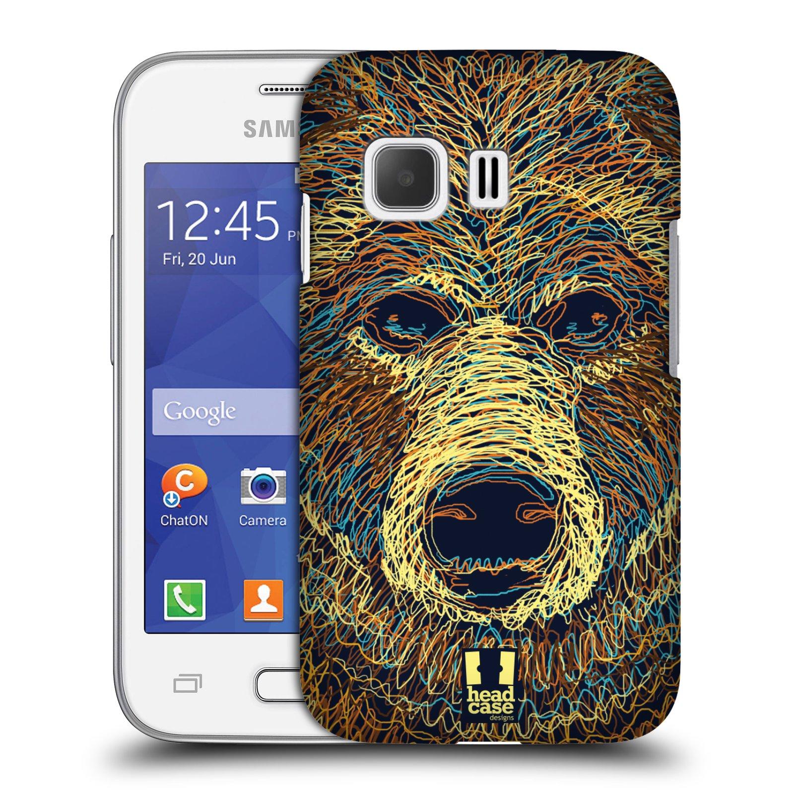 HEAD CASE plastový obal na mobil SAMSUNG Galaxy Young 2 (G130) vzor zvíře čmáranice medvěd
