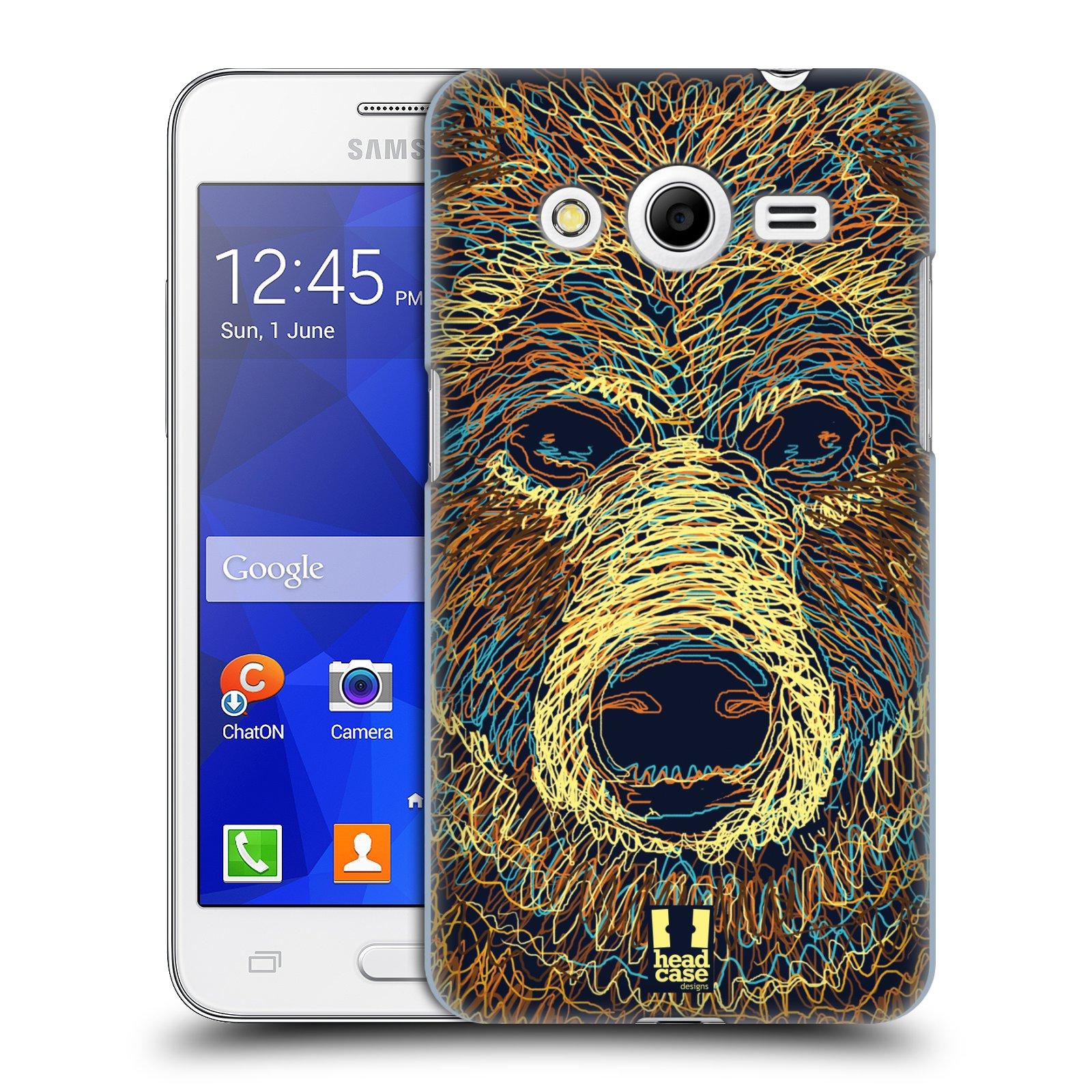 HEAD CASE plastový obal na mobil SAMSUNG GALAXY Core 2 (G355H) vzor zvíře čmáranice medvěd