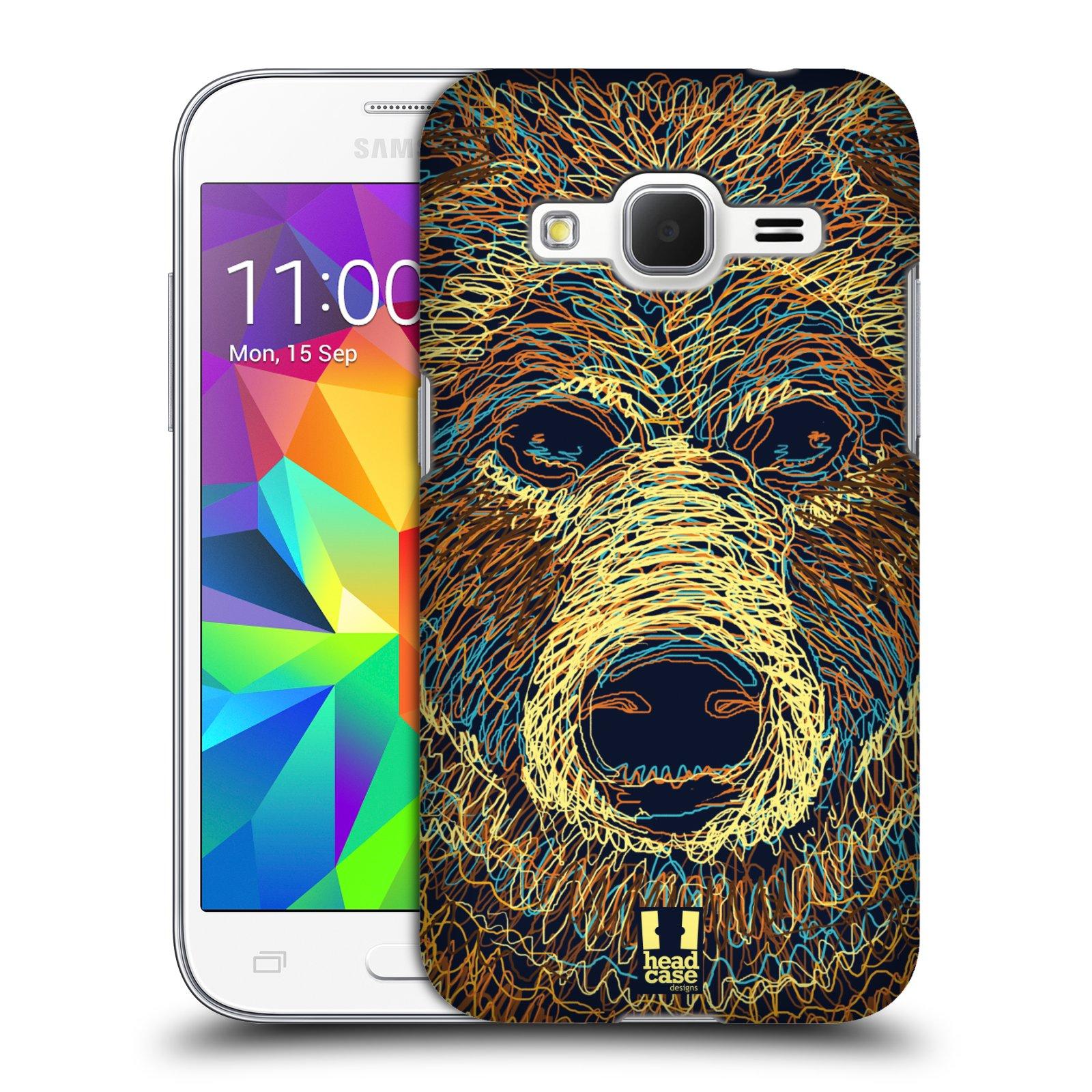 HEAD CASE plastový obal na mobil SAMSUNG GALAXY Core Prime (Core Prime VE) vzor zvíře čmáranice medvěd