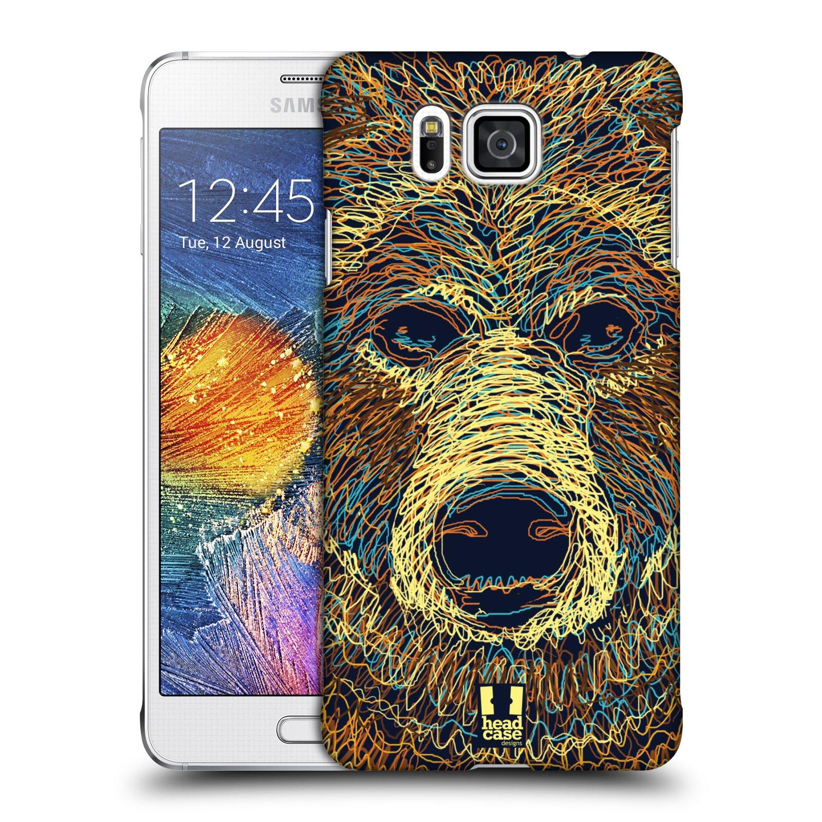 HEAD CASE plastový obal na mobil SAMSUNG Galaxy Alpha (G850) vzor zvíře čmáranice medvěd
