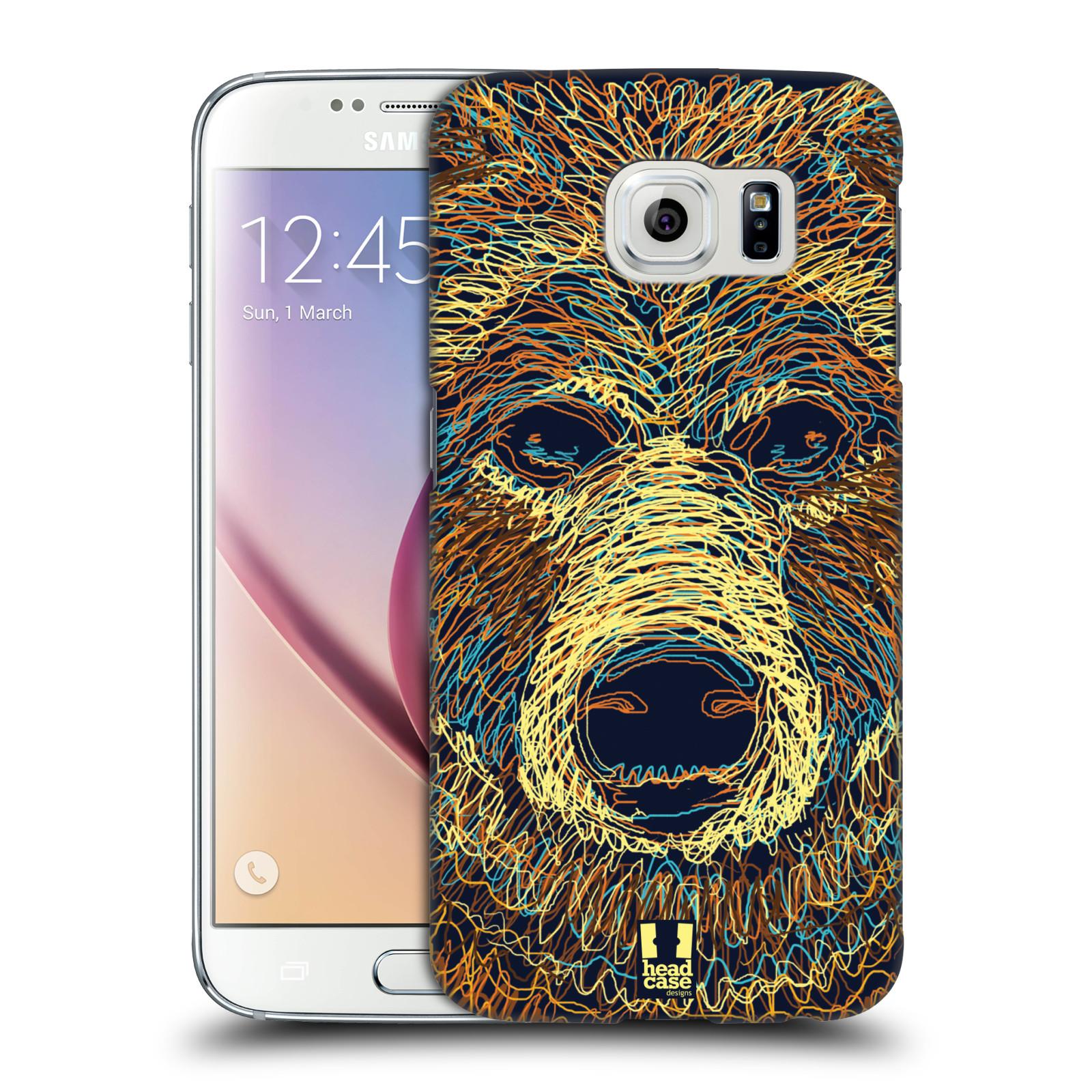 HEAD CASE plastový obal na mobil SAMSUNG Galaxy S6 (G9200, G920F) vzor zvíře čmáranice medvěd