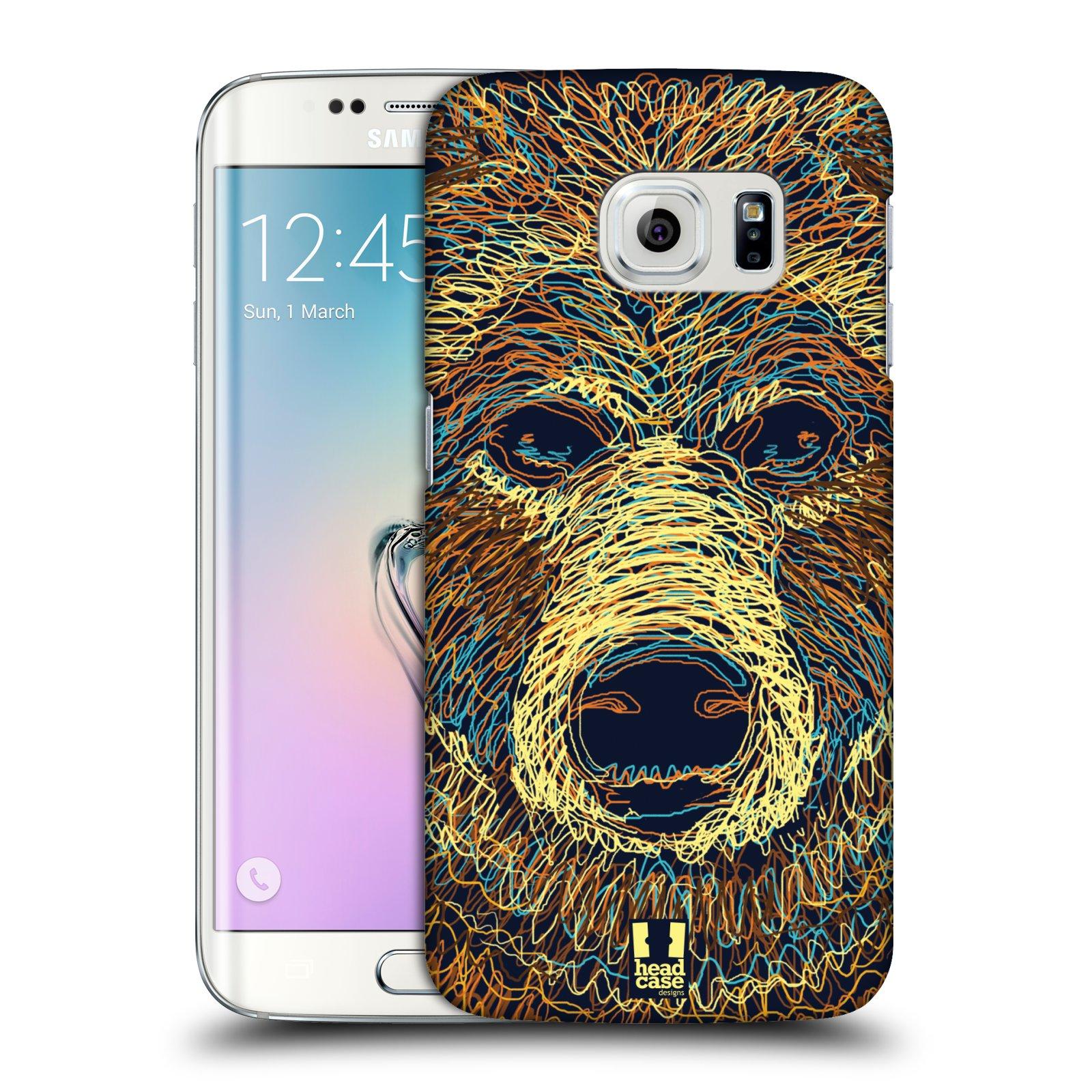 HEAD CASE plastový obal na mobil SAMSUNG Galaxy S6 EDGE (G9250, G925, G925F) vzor zvíře čmáranice medvěd