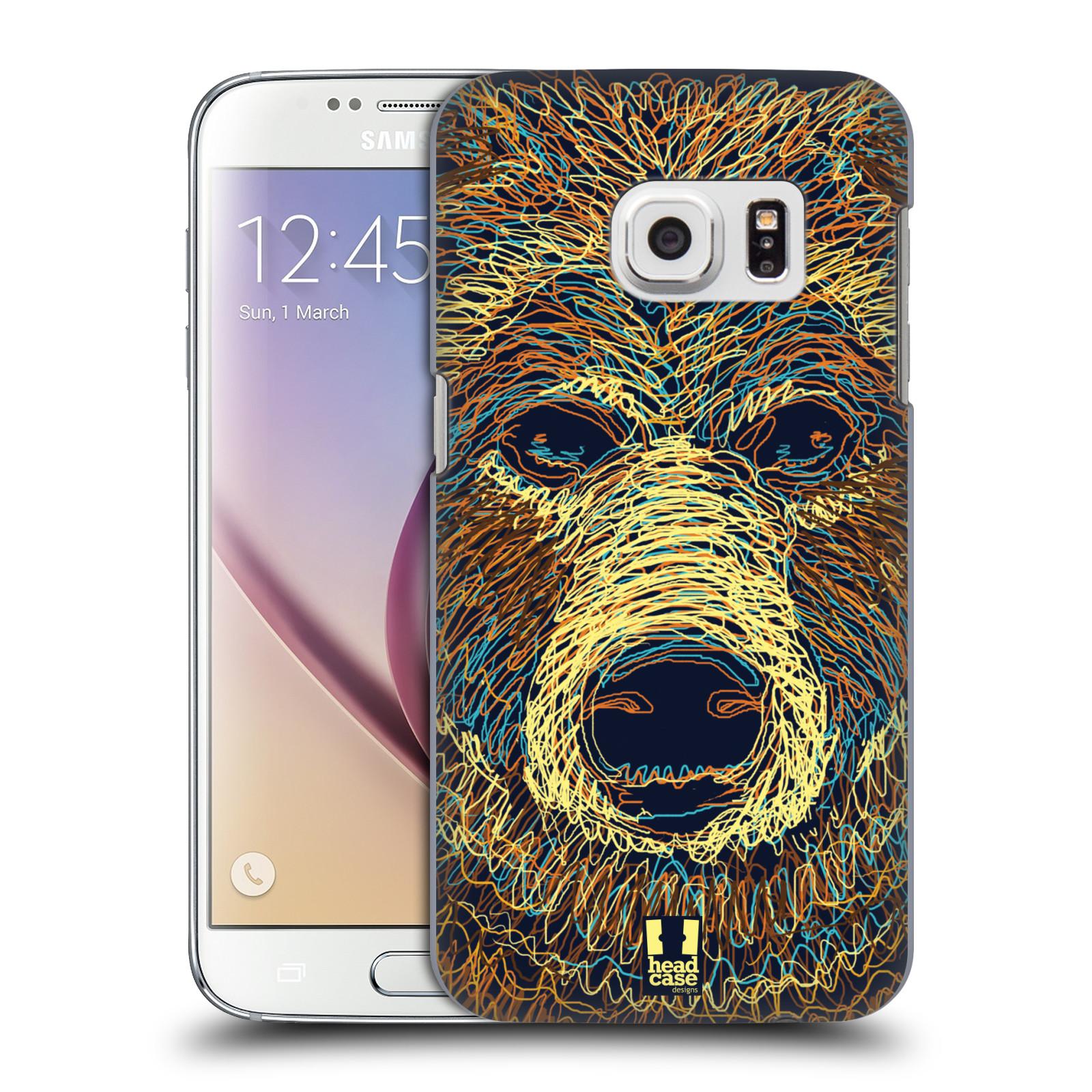 HEAD CASE plastový obal na mobil SAMSUNG GALAXY S7 vzor zvíře čmáranice medvěd