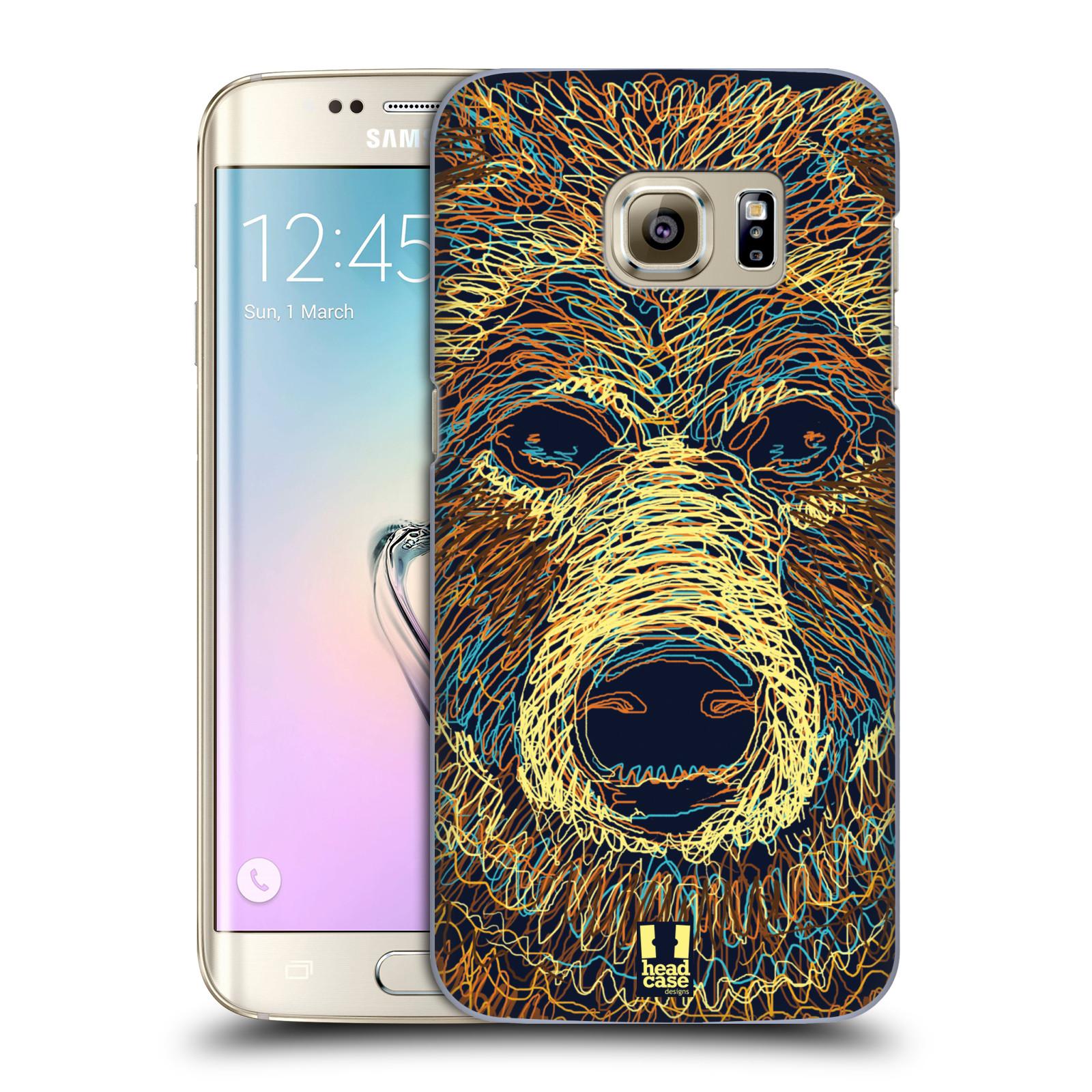 HEAD CASE plastový obal na mobil SAMSUNG GALAXY S7 EDGE vzor zvíře čmáranice medvěd