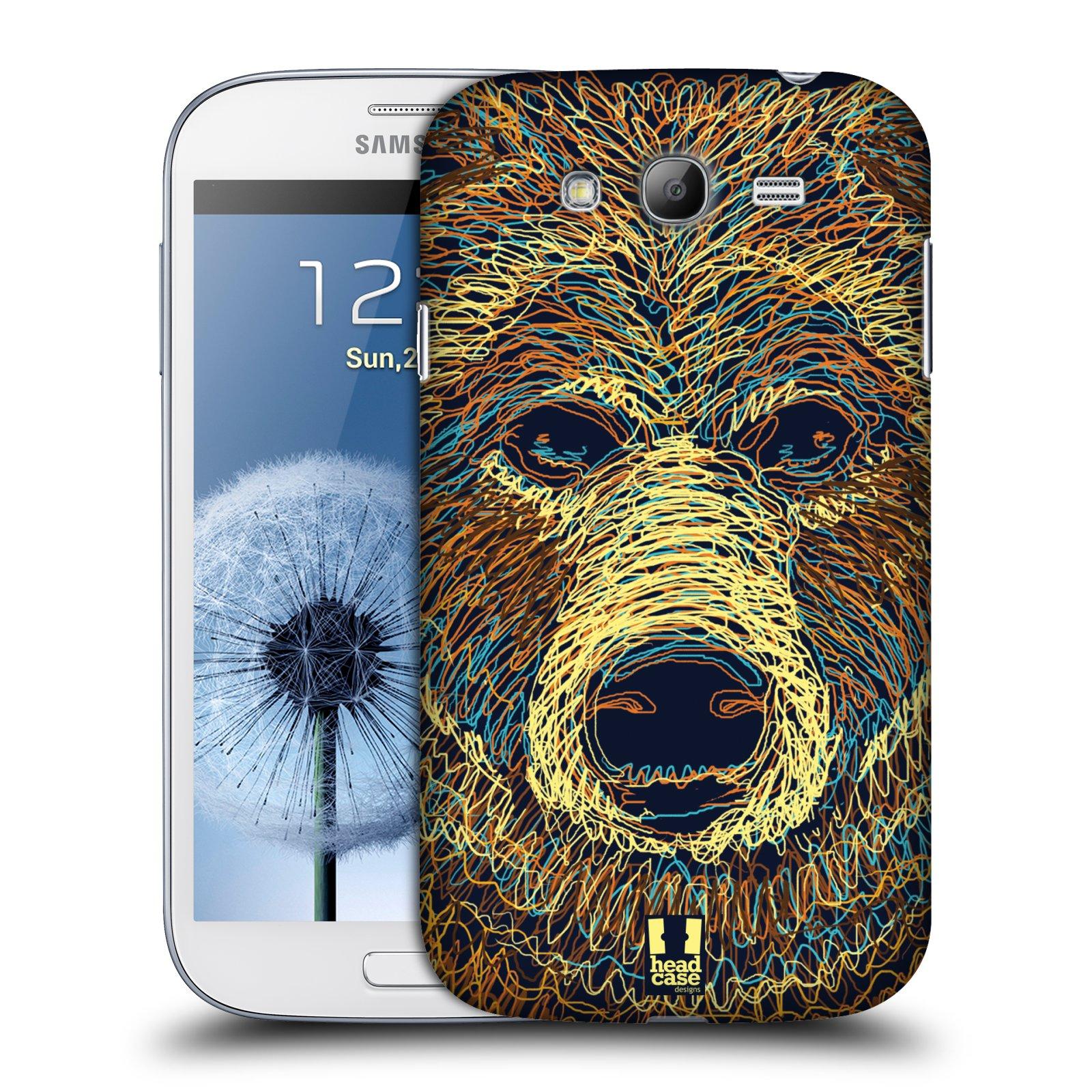 HEAD CASE plastový obal na mobil SAMSUNG GALAXY Grand i9080 vzor zvíře čmáranice medvěd