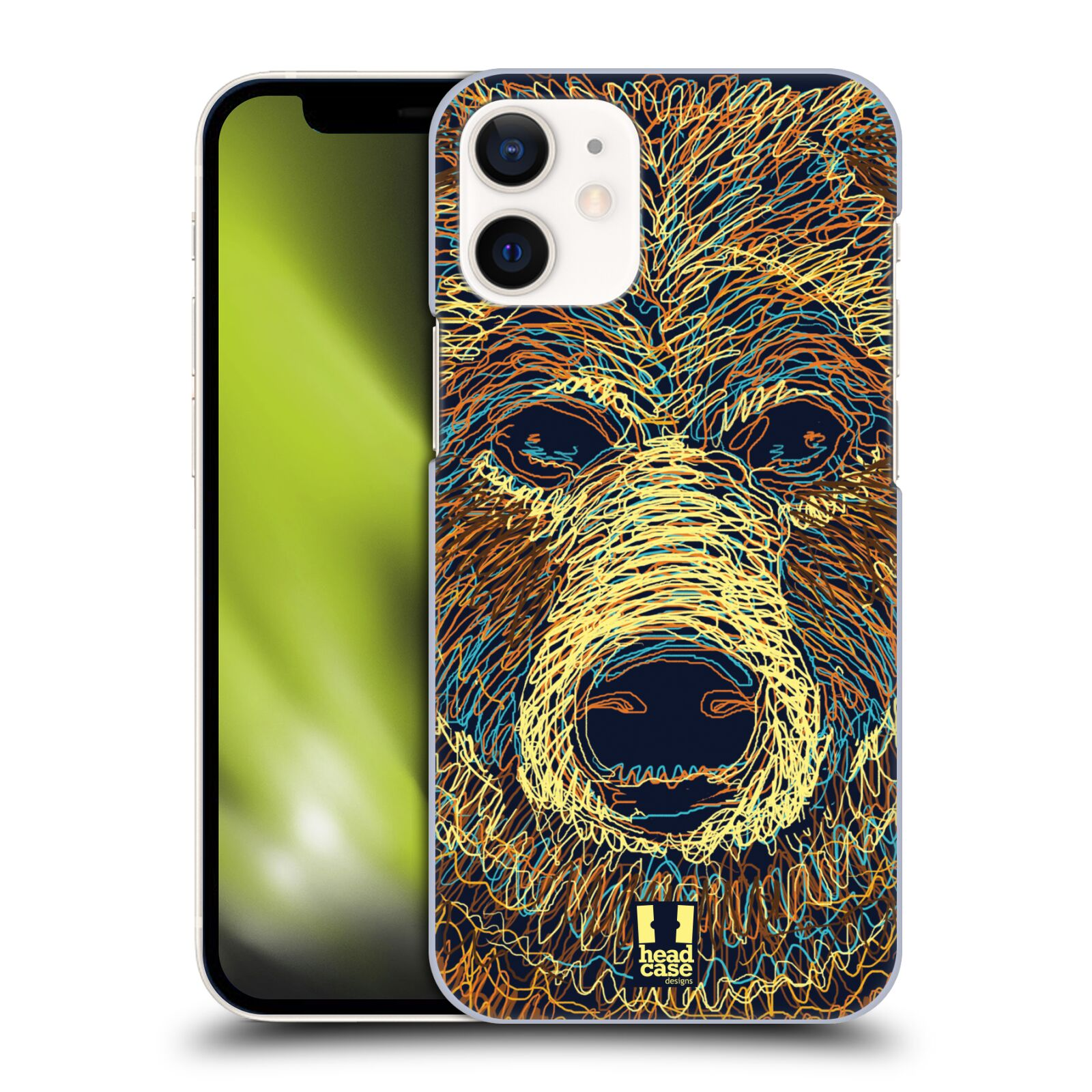 Plastový obal na mobil Apple Iphone 12 MINI vzor zvíře čmáranice medvěd
