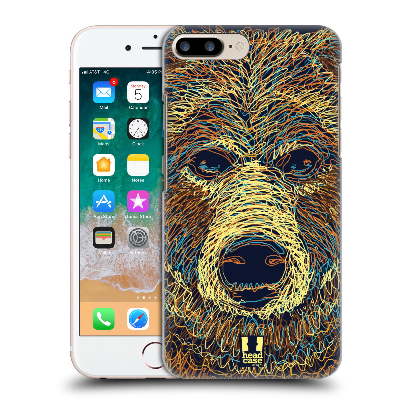 HEAD CASE plastový obal na mobil Apple Iphone 7 PLUS vzor zvíře čmáranice medvěd