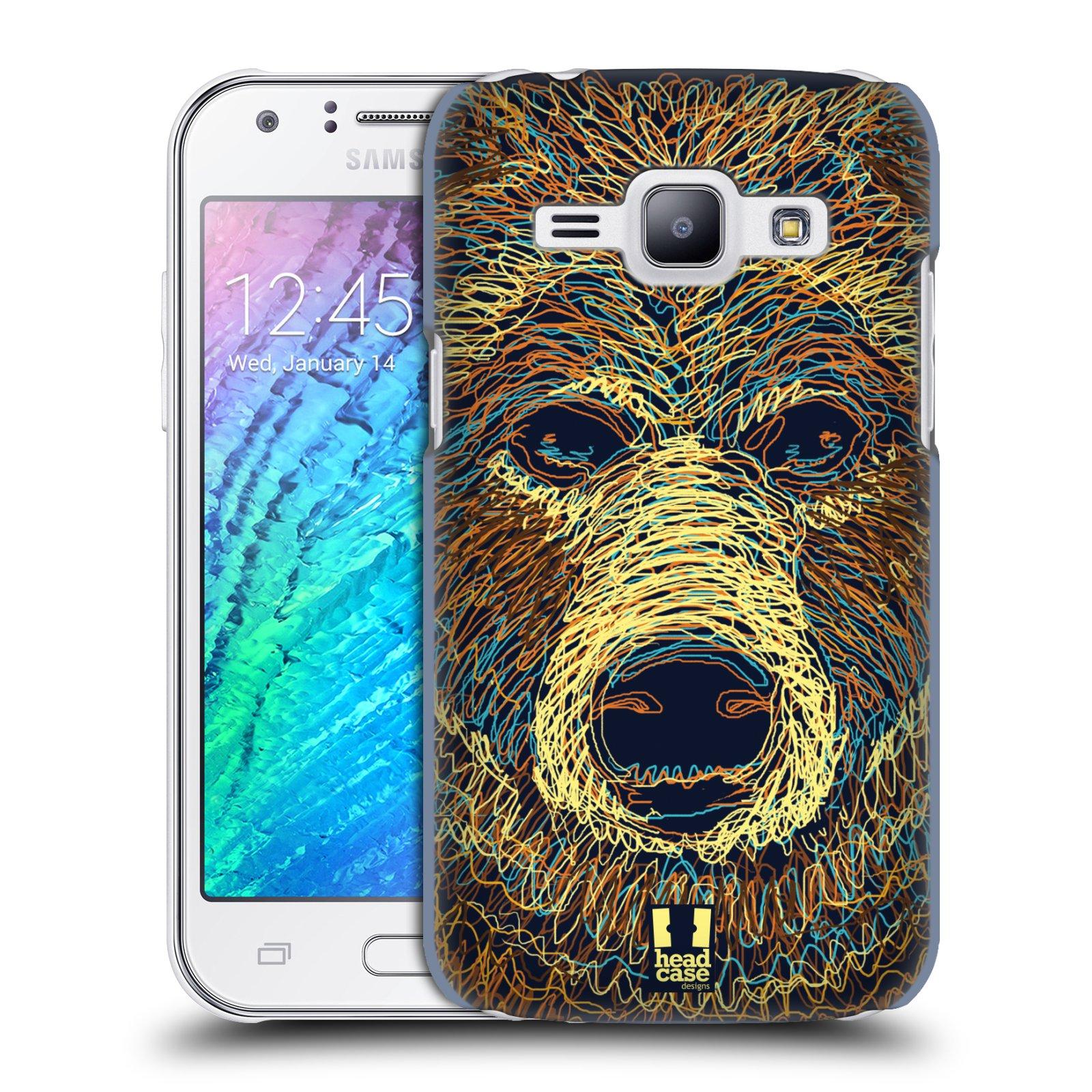HEAD CASE plastový obal na mobil SAMSUNG Galaxy J1, J100 vzor zvíře čmáranice medvěd