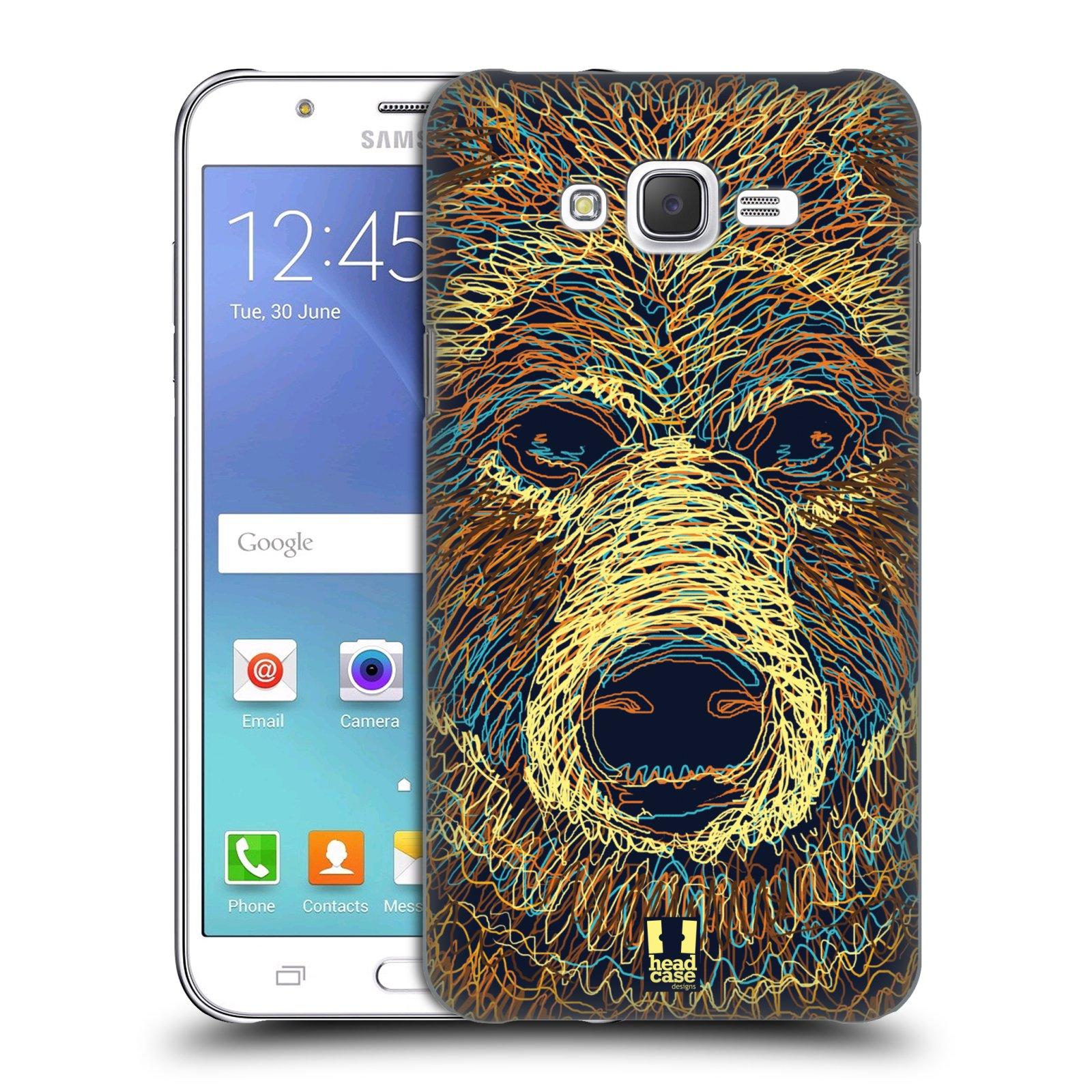 HEAD CASE plastový obal na mobil SAMSUNG Galaxy J7, J700 vzor zvíře čmáranice medvěd