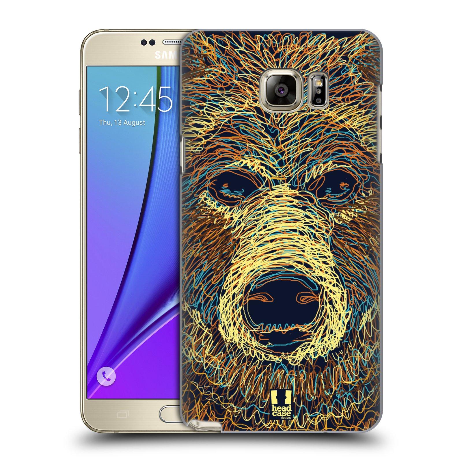 HEAD CASE plastový obal na mobil SAMSUNG Galaxy Note 5 (N920) vzor zvíře čmáranice medvěd