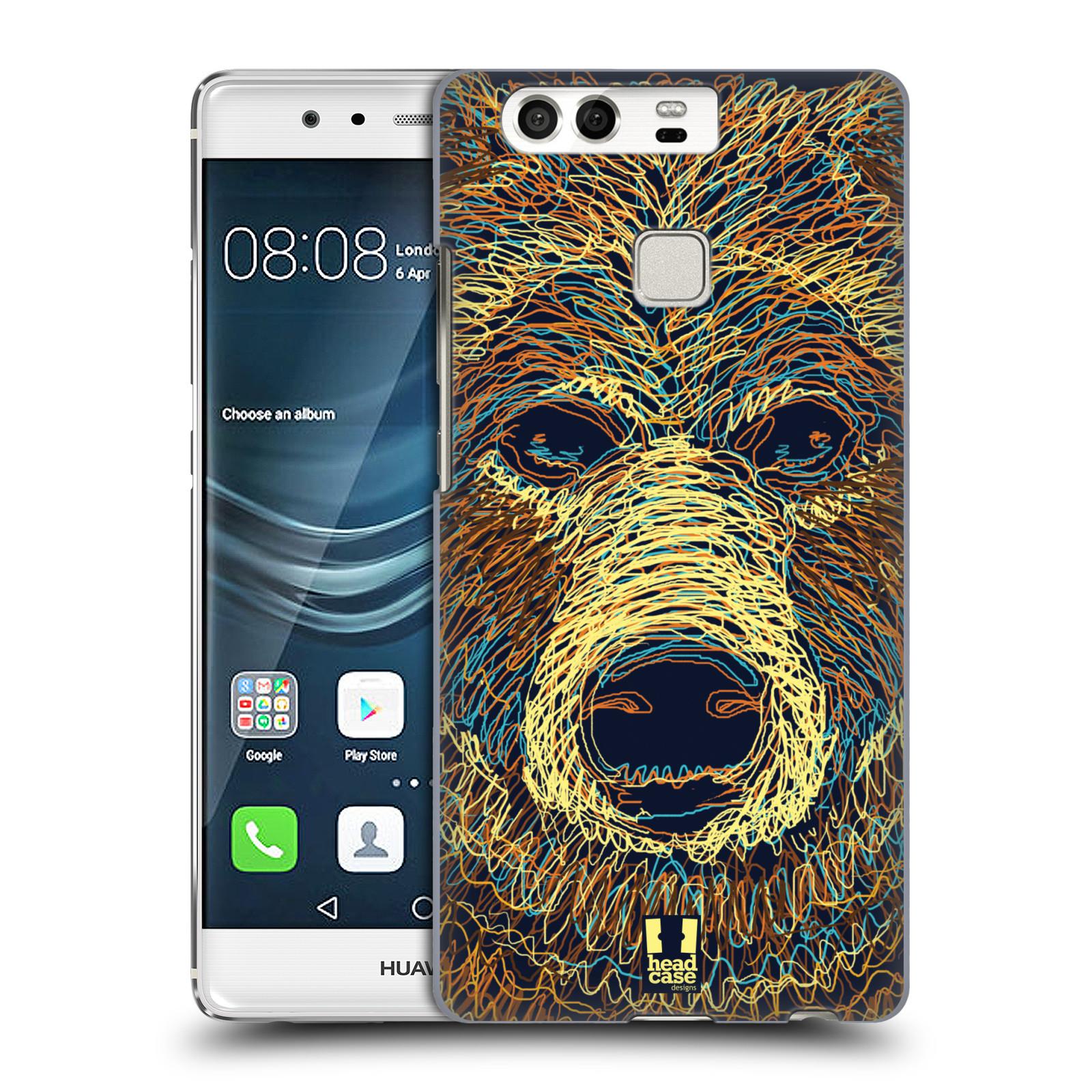 HEAD CASE plastový obal na mobil Huawei P9 / P9 DUAL SIM vzor zvíře čmáranice medvěd